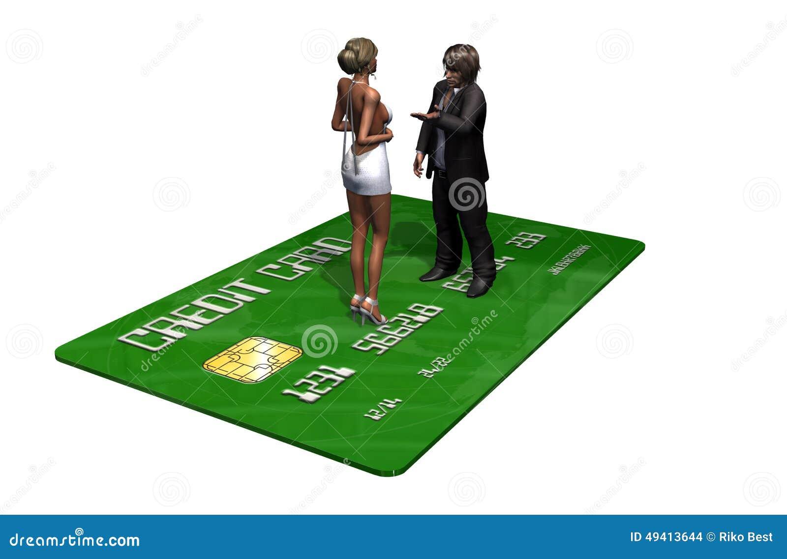 Download Kreditkarte Mit Personen Im Geschäft Stock Abbildung - Illustration von hintergrund, betrug: 49413644