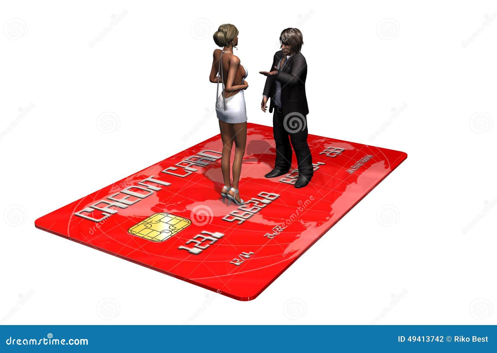 Download Kreditkarte Mit Personen Im Geschäft Stock Abbildung - Illustration von internet, querneigung: 49413742