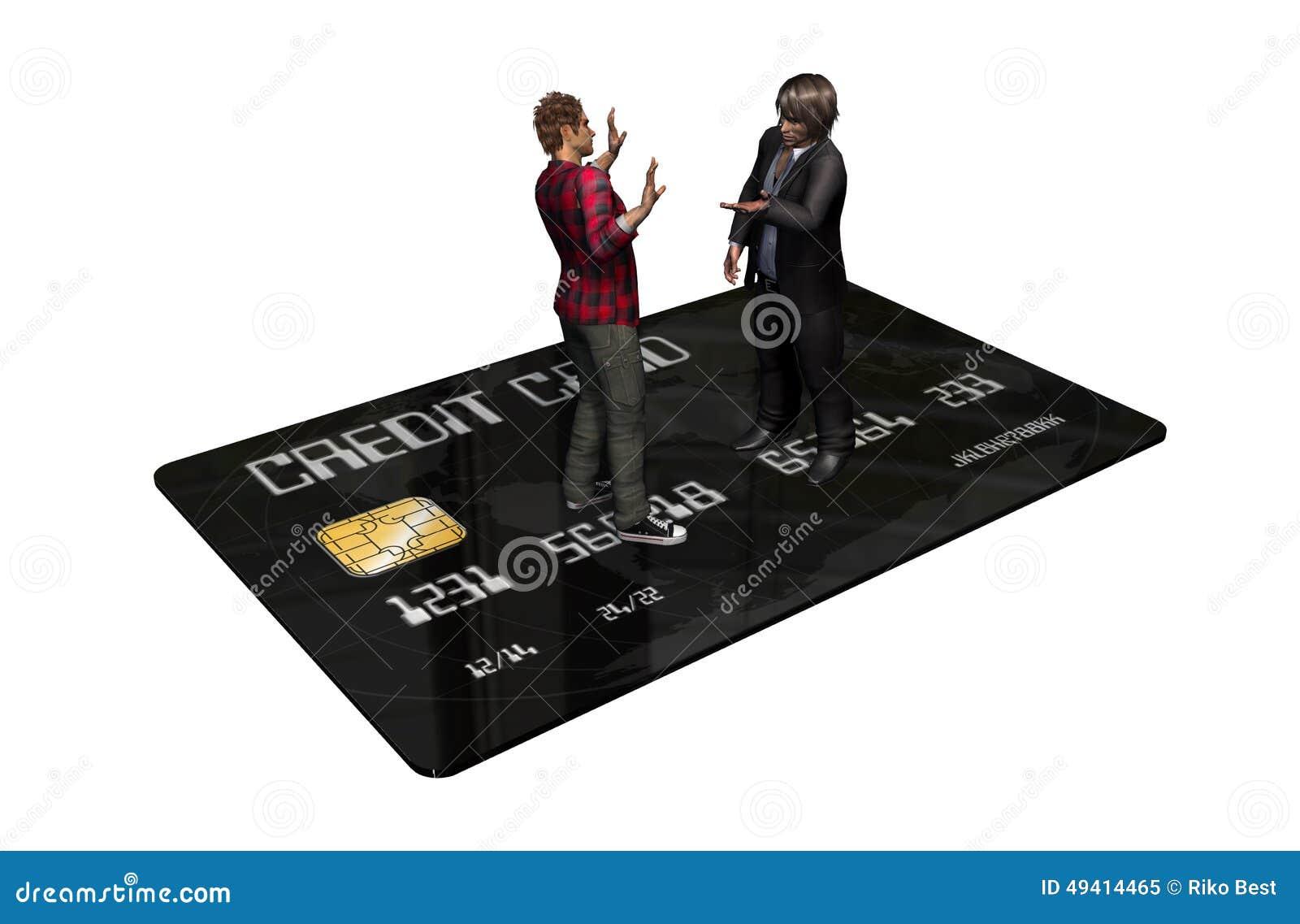 Download Kreditkarte Mit Personen Im Geschäft Stock Abbildung - Illustration von gutschrift, bezahlung: 49414465
