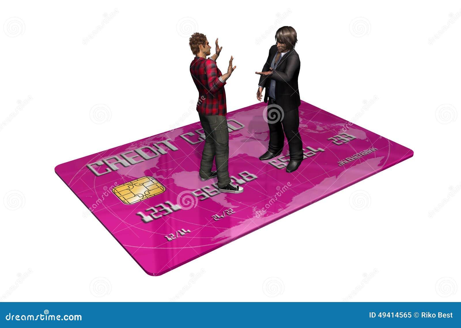 Download Kreditkarte Mit Personen Im Geschäft Stock Abbildung - Illustration von karte, einkaufen: 49414565
