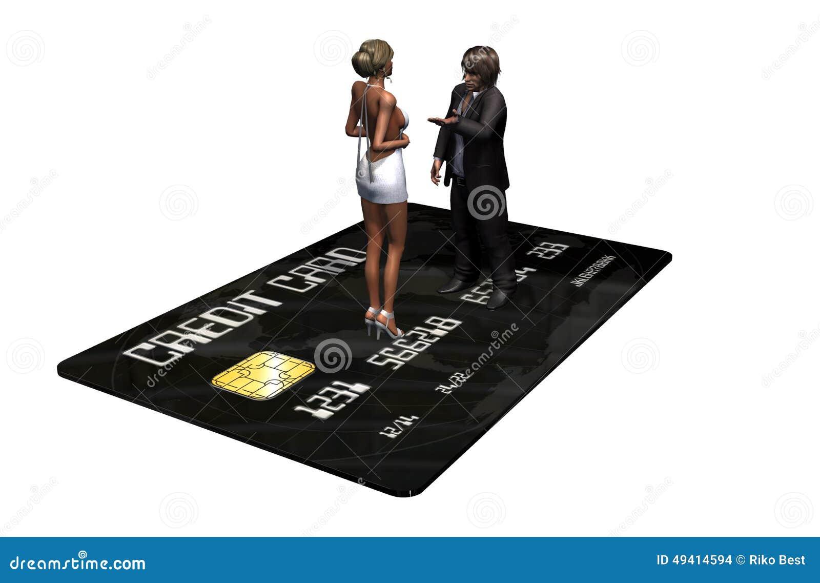 Download Kreditkarte Mit Personen Im Geschäft Stock Abbildung - Illustration von system, bankverkehr: 49414594