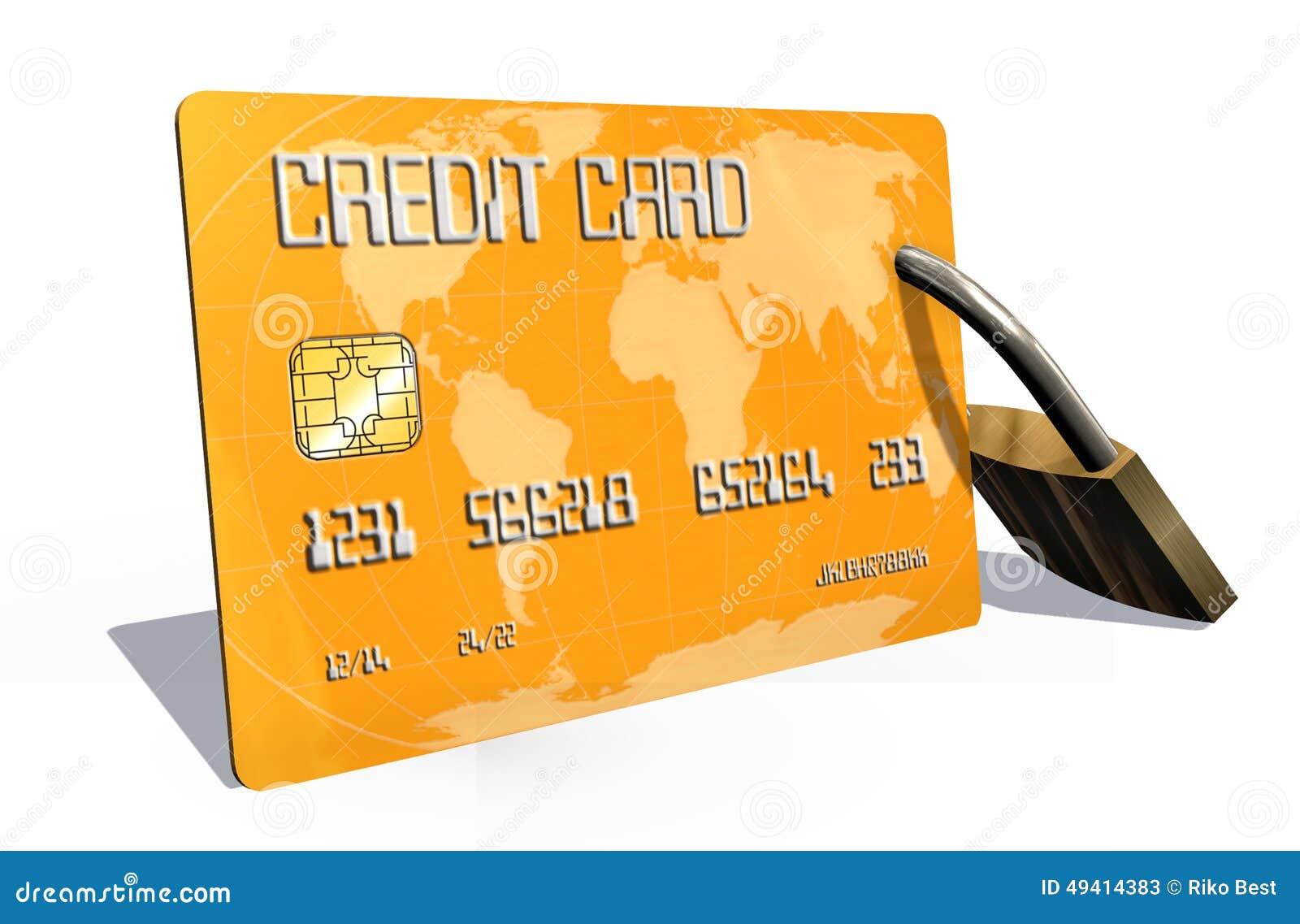 Download Kreditkarte Mit Sicherheitsschloss Stock Abbildung - Illustration von bezahlung, karte: 49414383