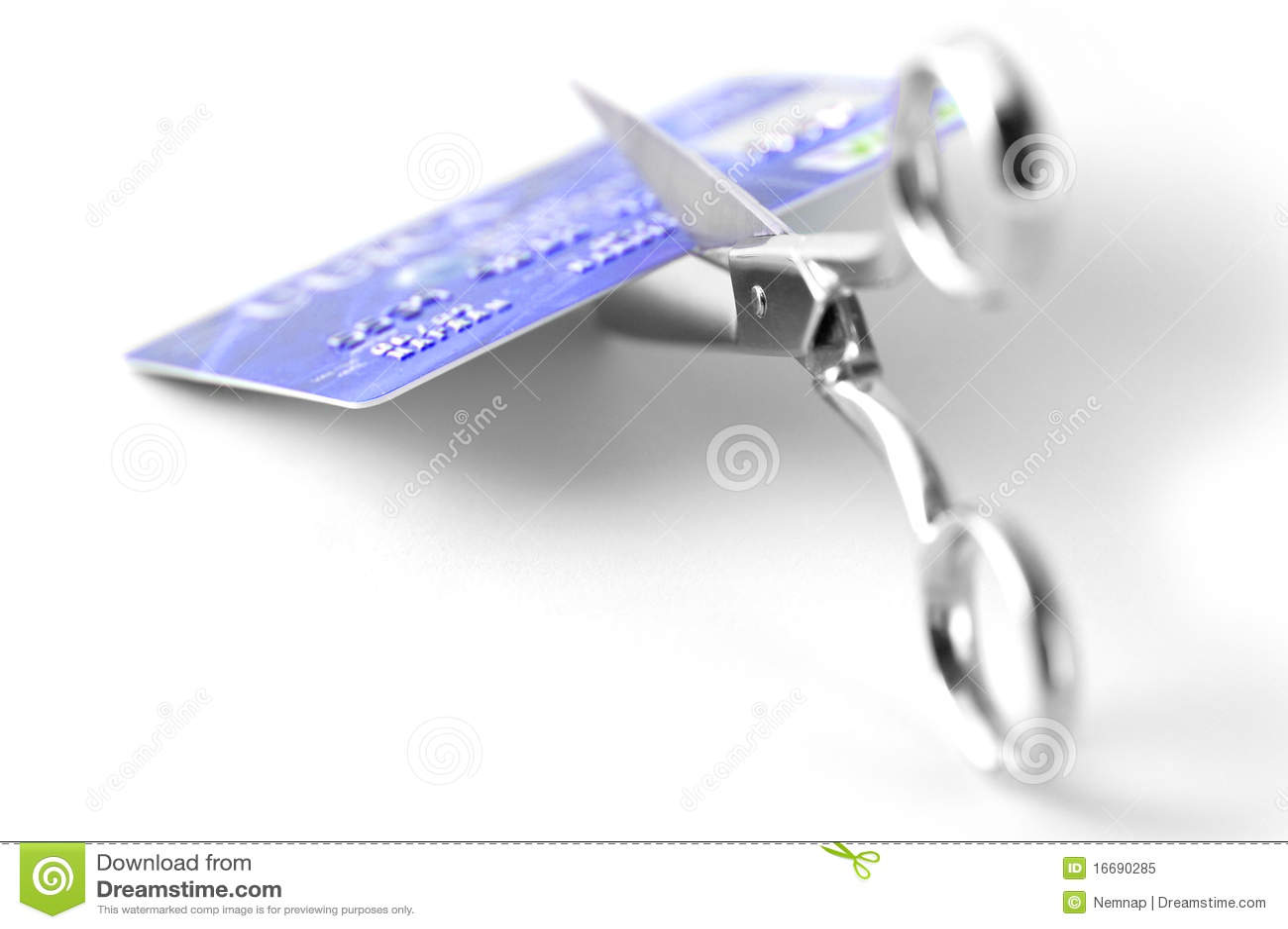 Kreditkarteausschnitt