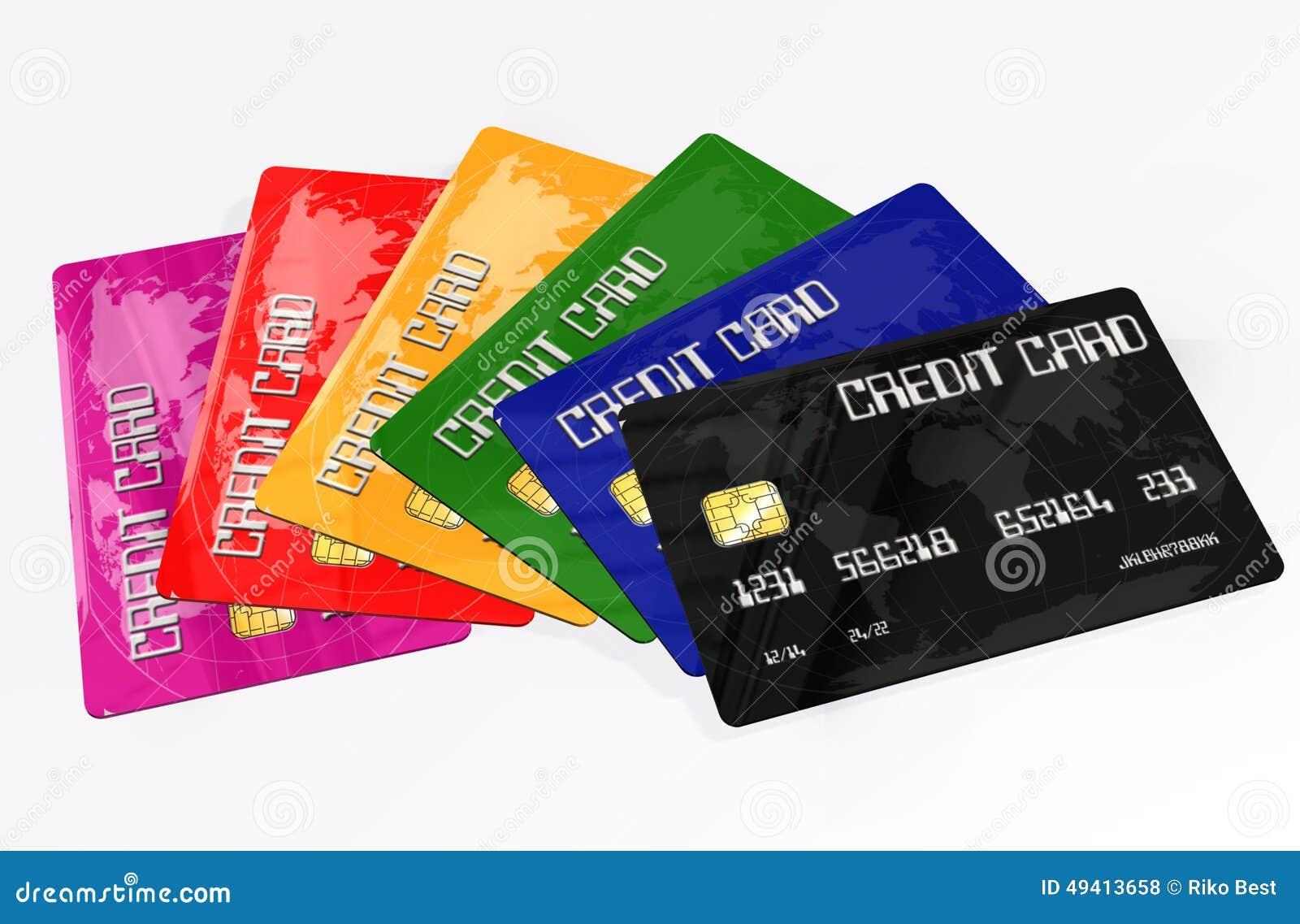 Download Kreditkarten Auf Weißem Hintergrund Stock Abbildung - Illustration von verriegelung, internet: 49413658