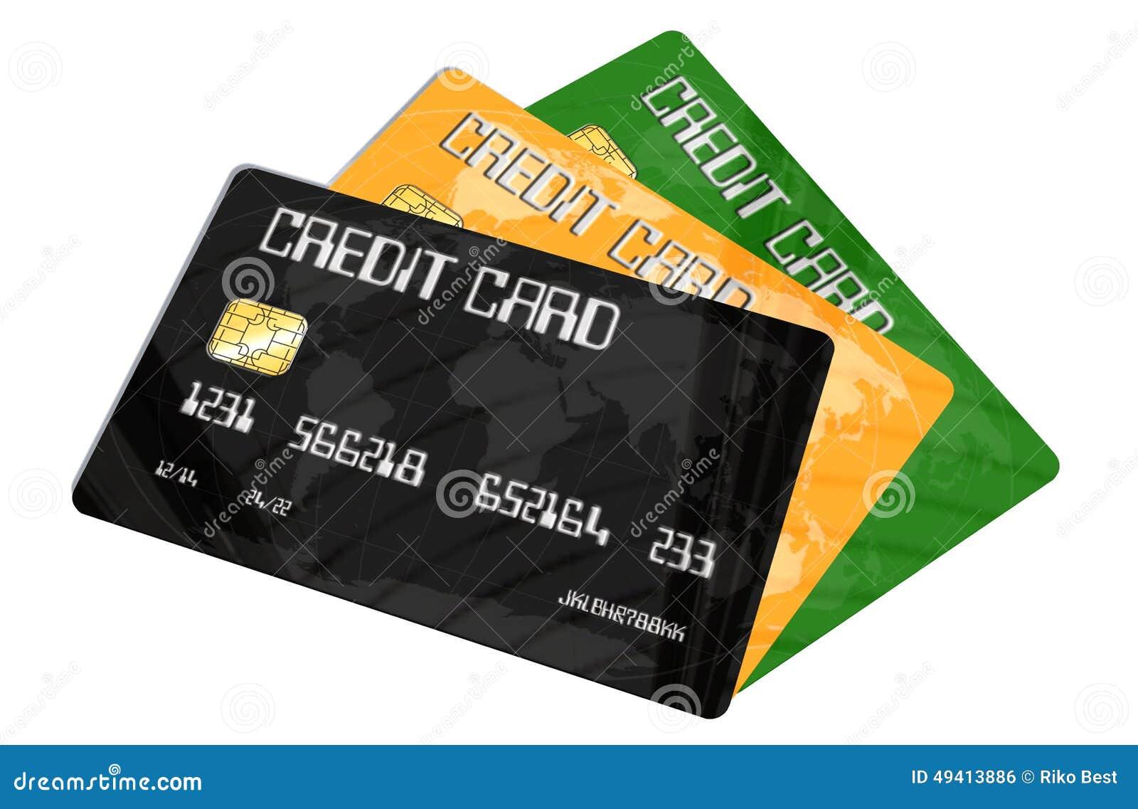 Download Kreditkarten Auf Weißem Hintergrund Stock Abbildung - Illustration von betrug, sicher: 49413886