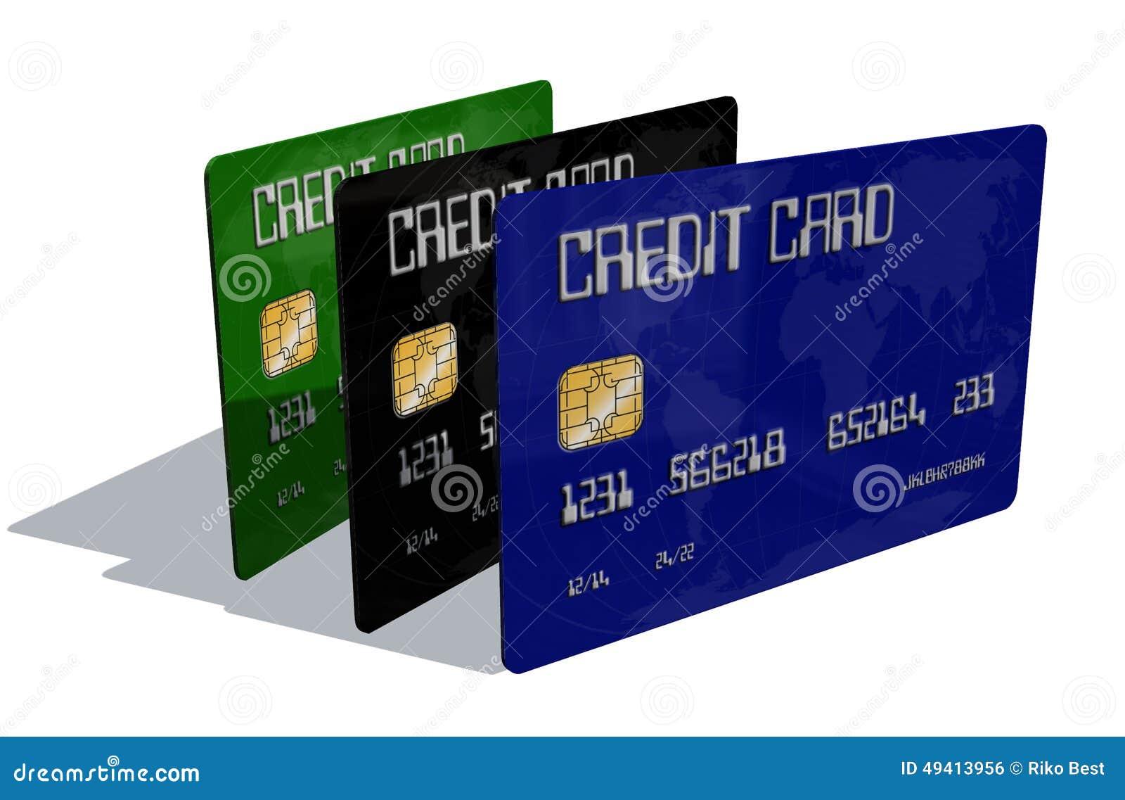 Download Kreditkarten Auf Weißem Hintergrund Stock Abbildung - Illustration von bankverkehr, händler: 49413956
