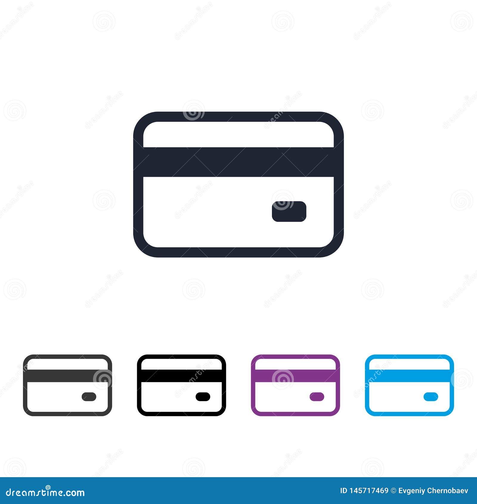 Kreditkortsymbolsvektor eps10 Tecken för bankkreditkortvektor