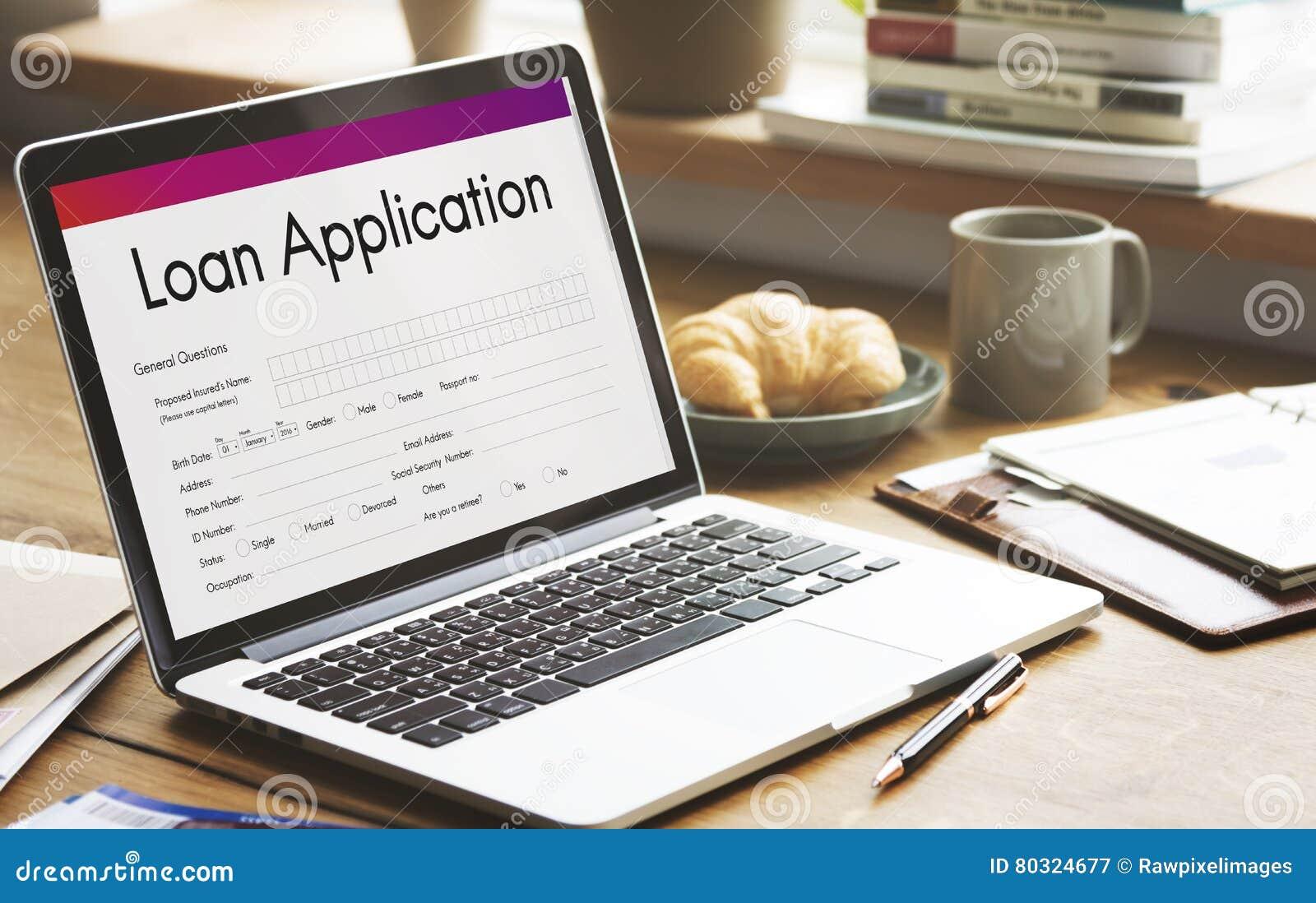 Kreditvorlage-Finanzhilfsform-Konzept Stockbild - Bild von connect ...