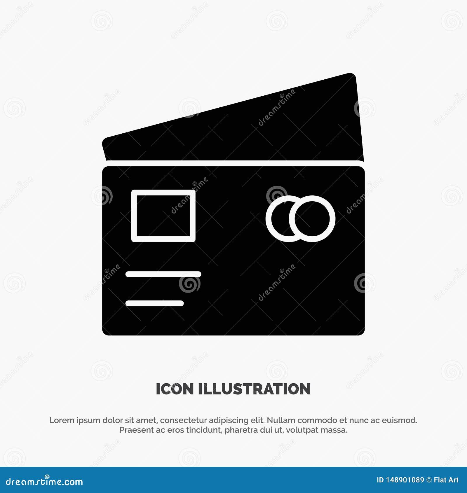 Kredyt, debet, Globalny, wynagrodzenie, Robi zakupy stałego glif ikony wektor