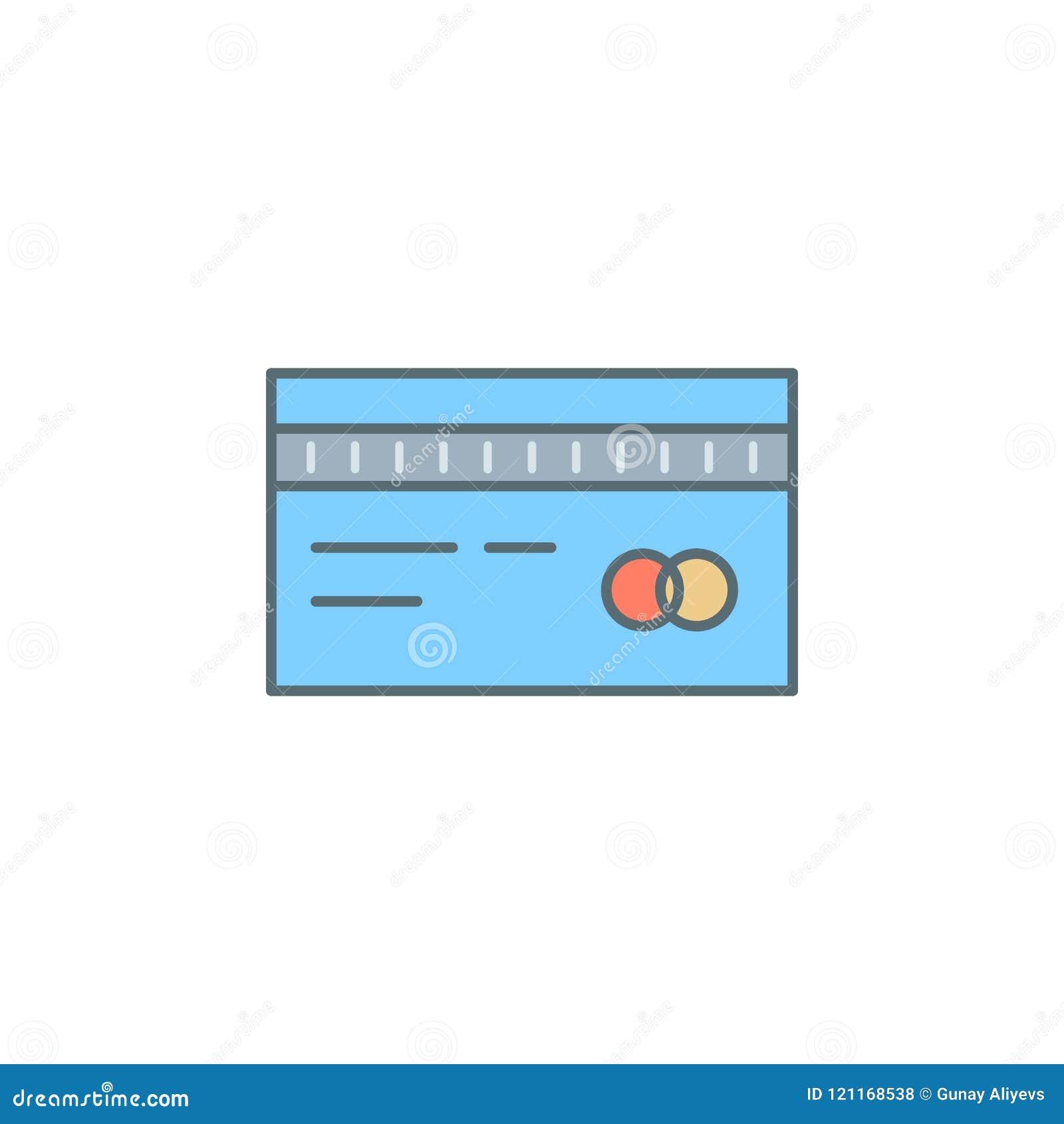 Kredytowej karty półmroku stylu linii ikona Element bankowości ikona dla mobilnych pojęcia i sieci apps Półmrok kredytowej karty