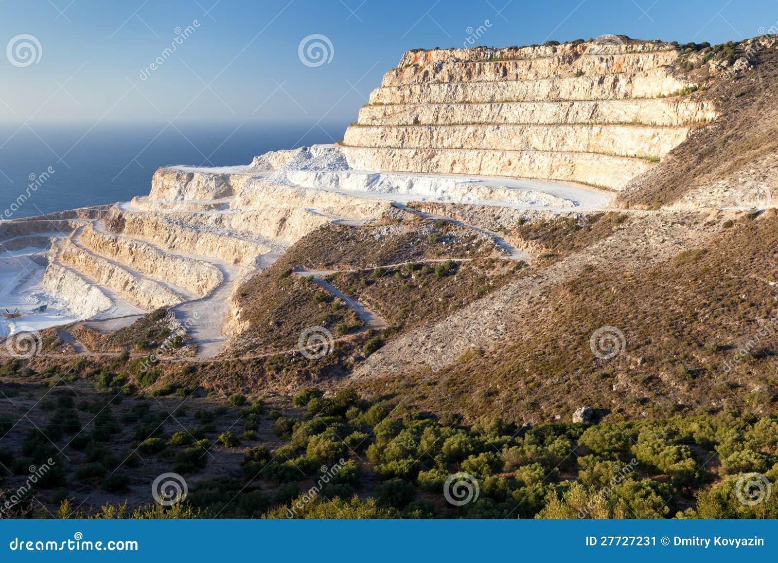 Kreidesteinbruch auf der Insel von Kreta
