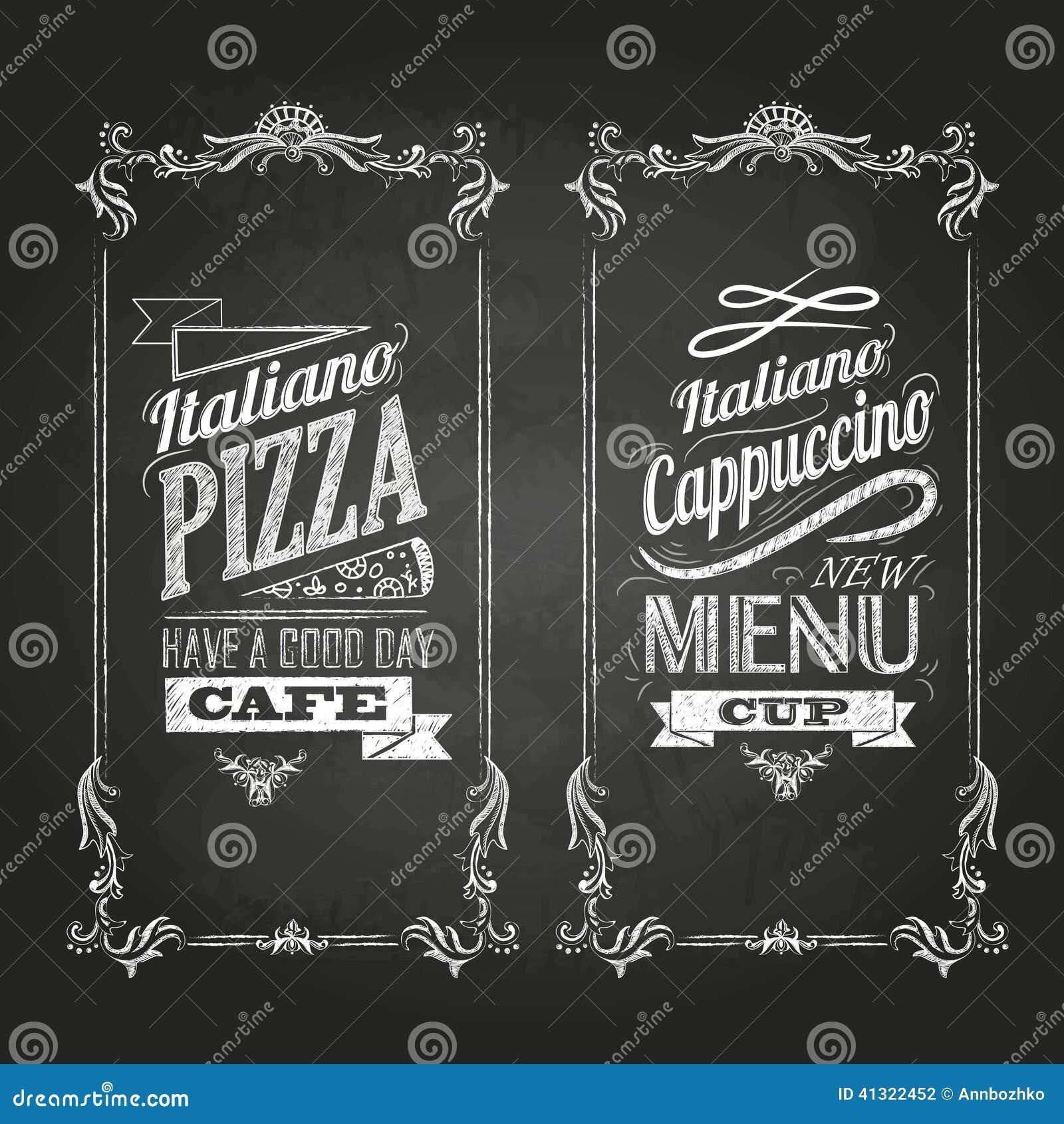 Kreidezeichnungen Retro- Typografie