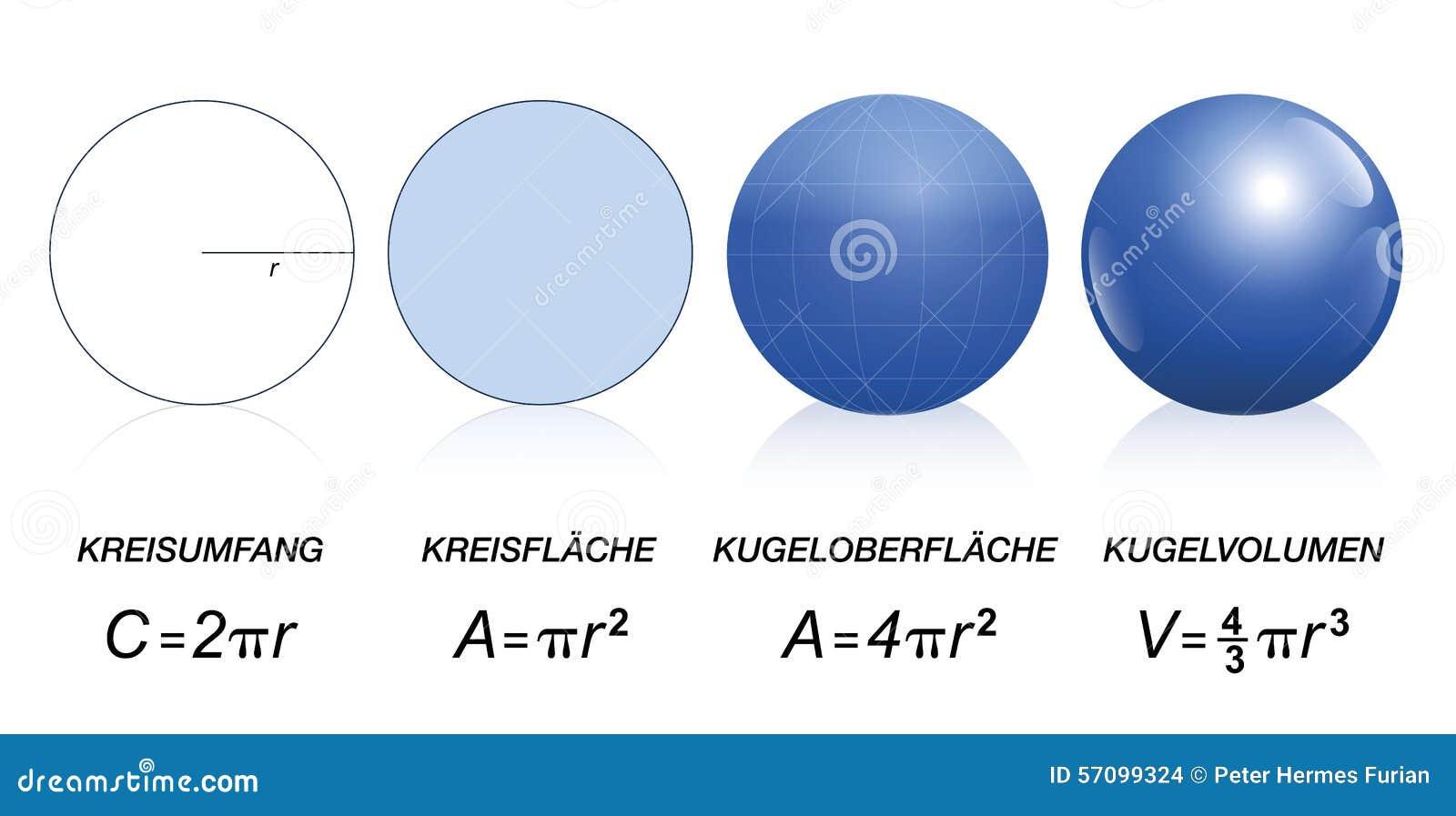 Kreis Bereich Mathe Formel Deutscher