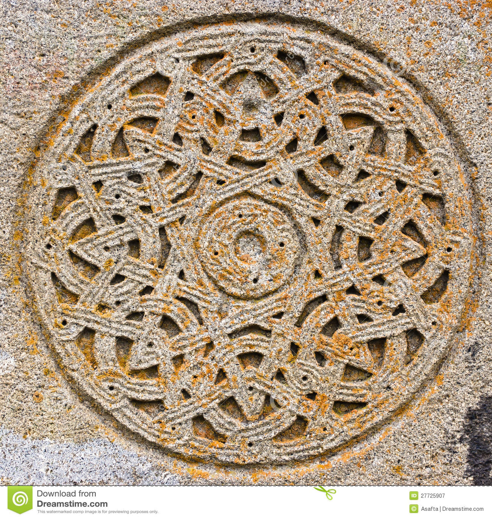 Kreis des dekorativen Steins