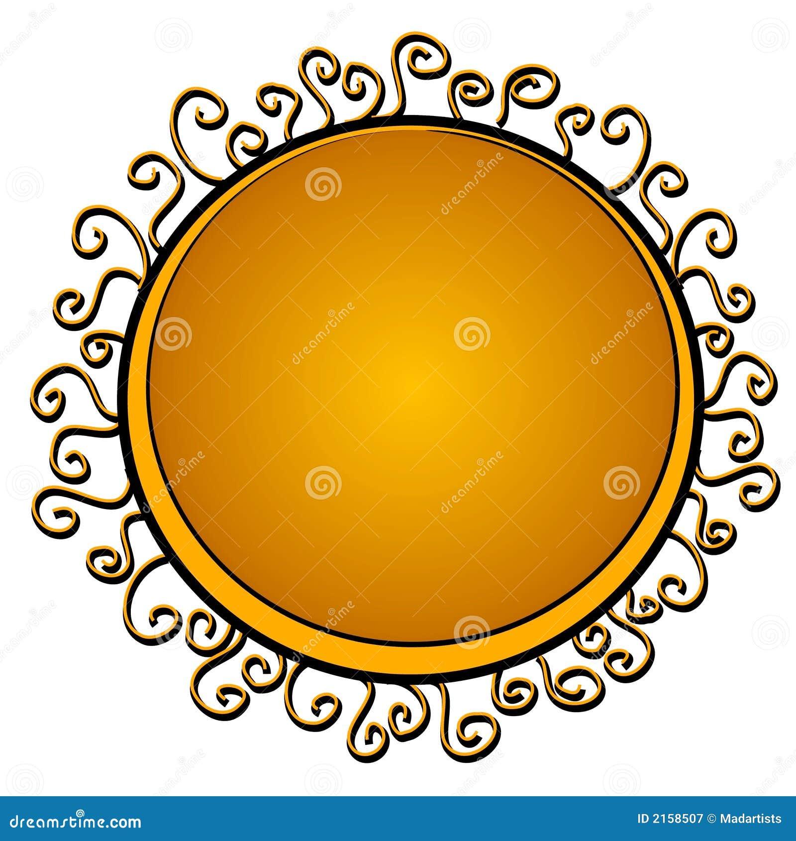 Kreis geformte Zeichen-Goldstrudel