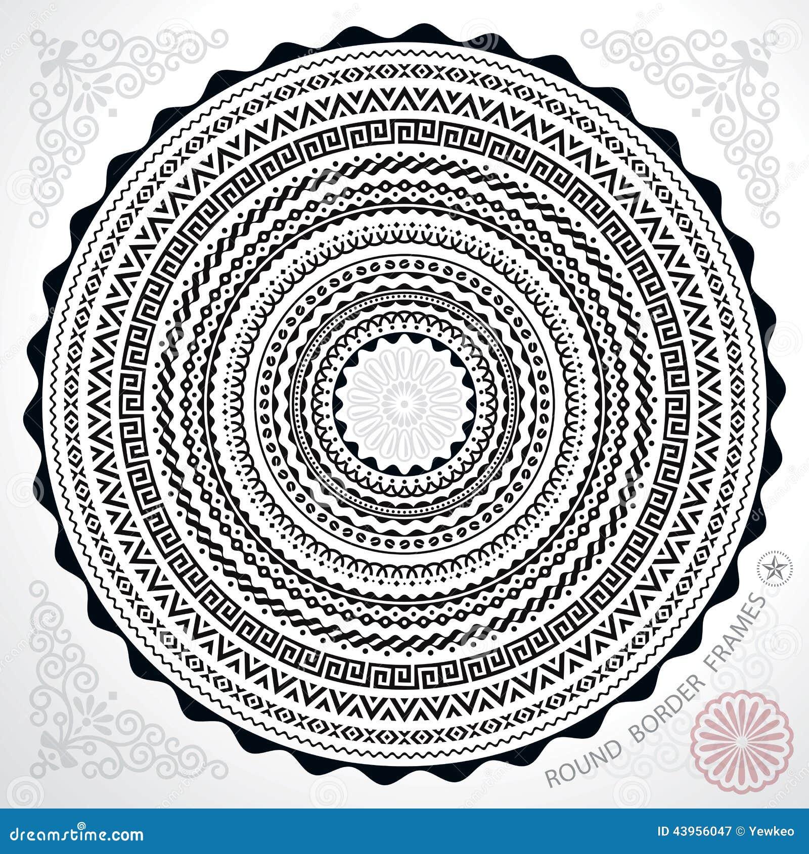 Kreis-Rahmen vektor abbildung. Illustration von rund - 43956047