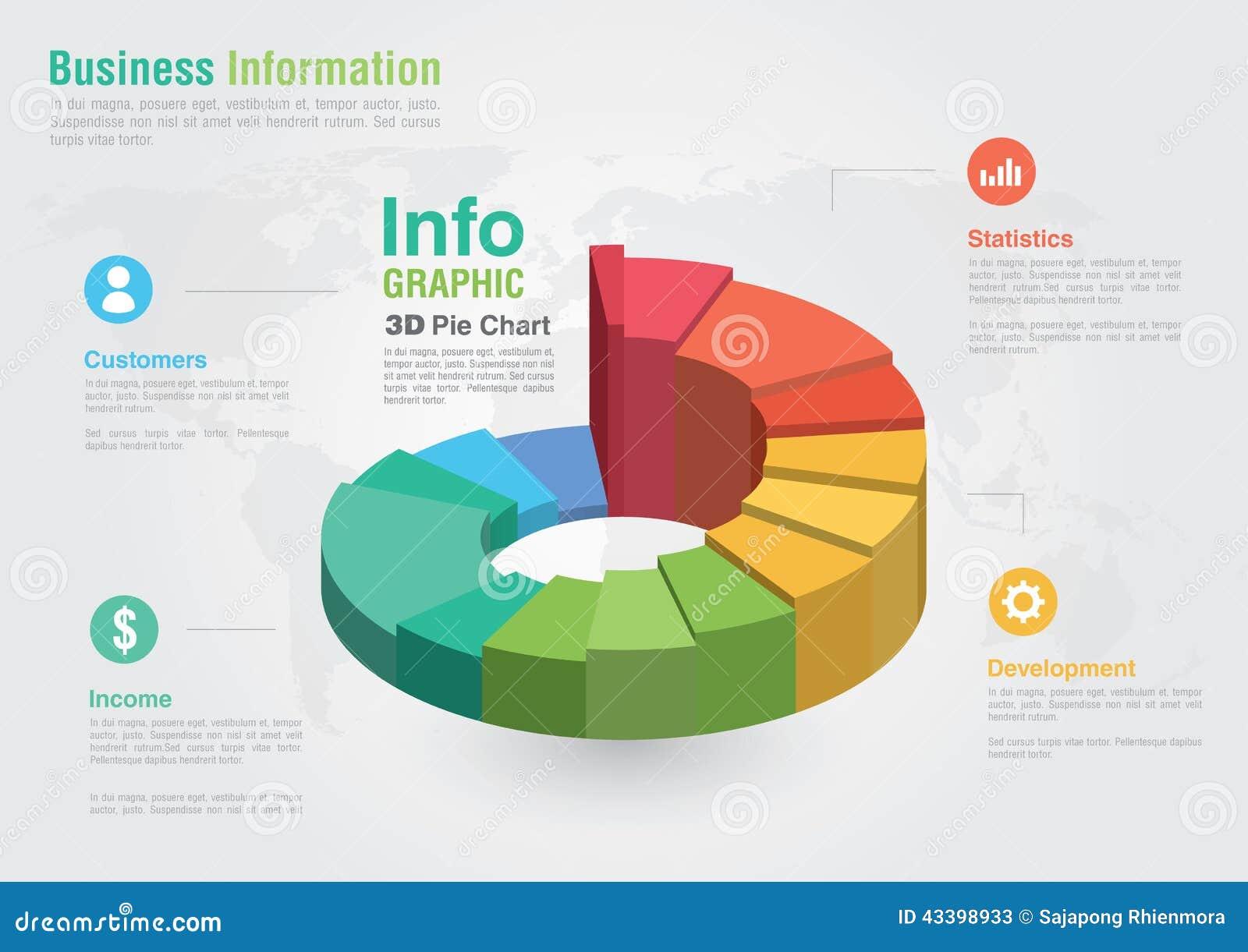 Kreisdiagramm Des Geschäfts-3D Infographic Kreatives Kennzeichen ...