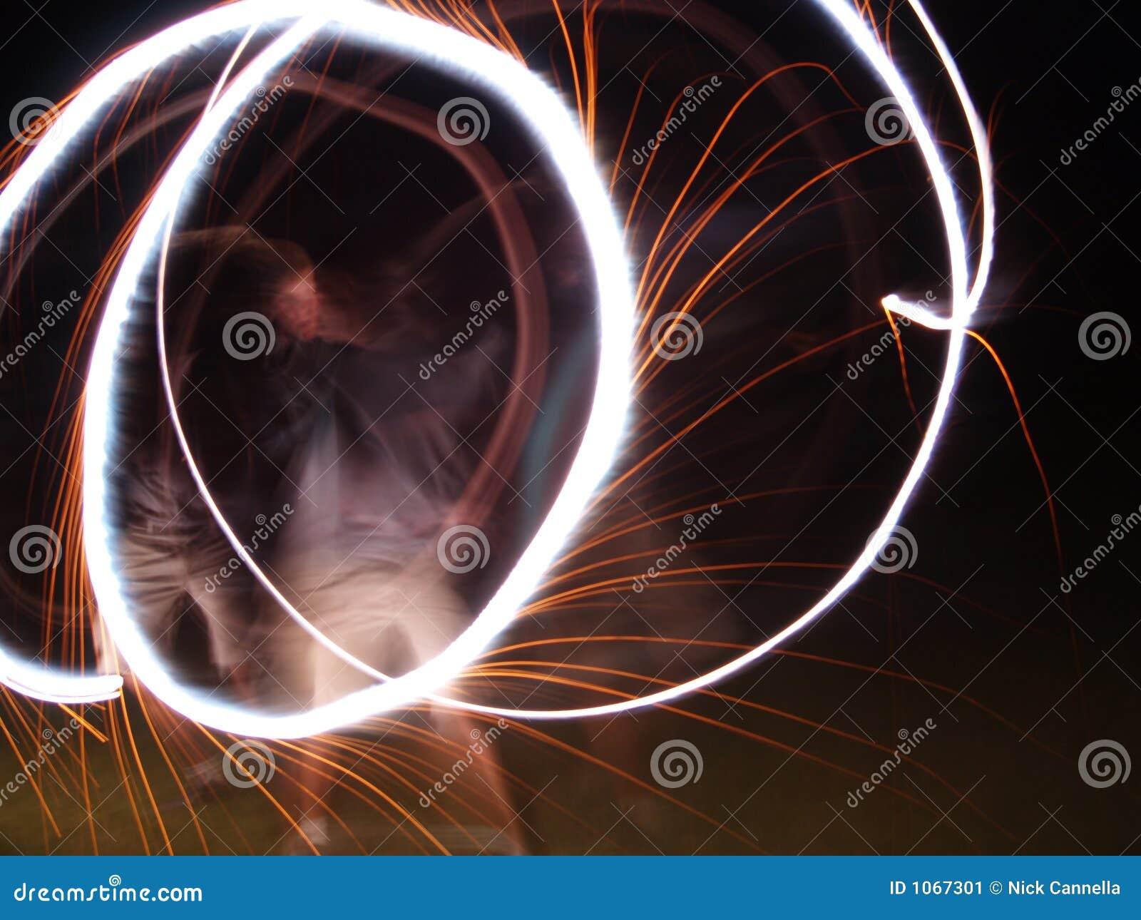 Kreise in der Nacht