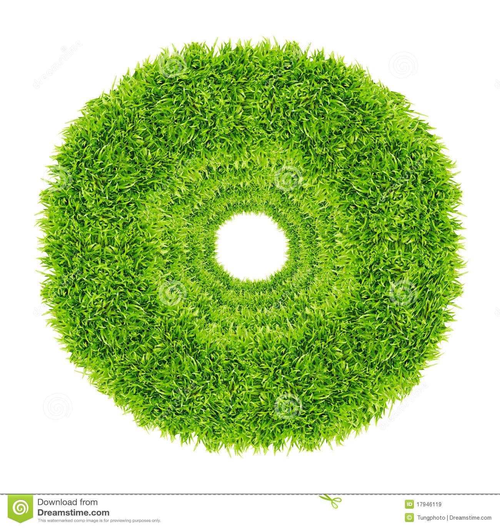 Kreisfeld des grünen Grases getrennt
