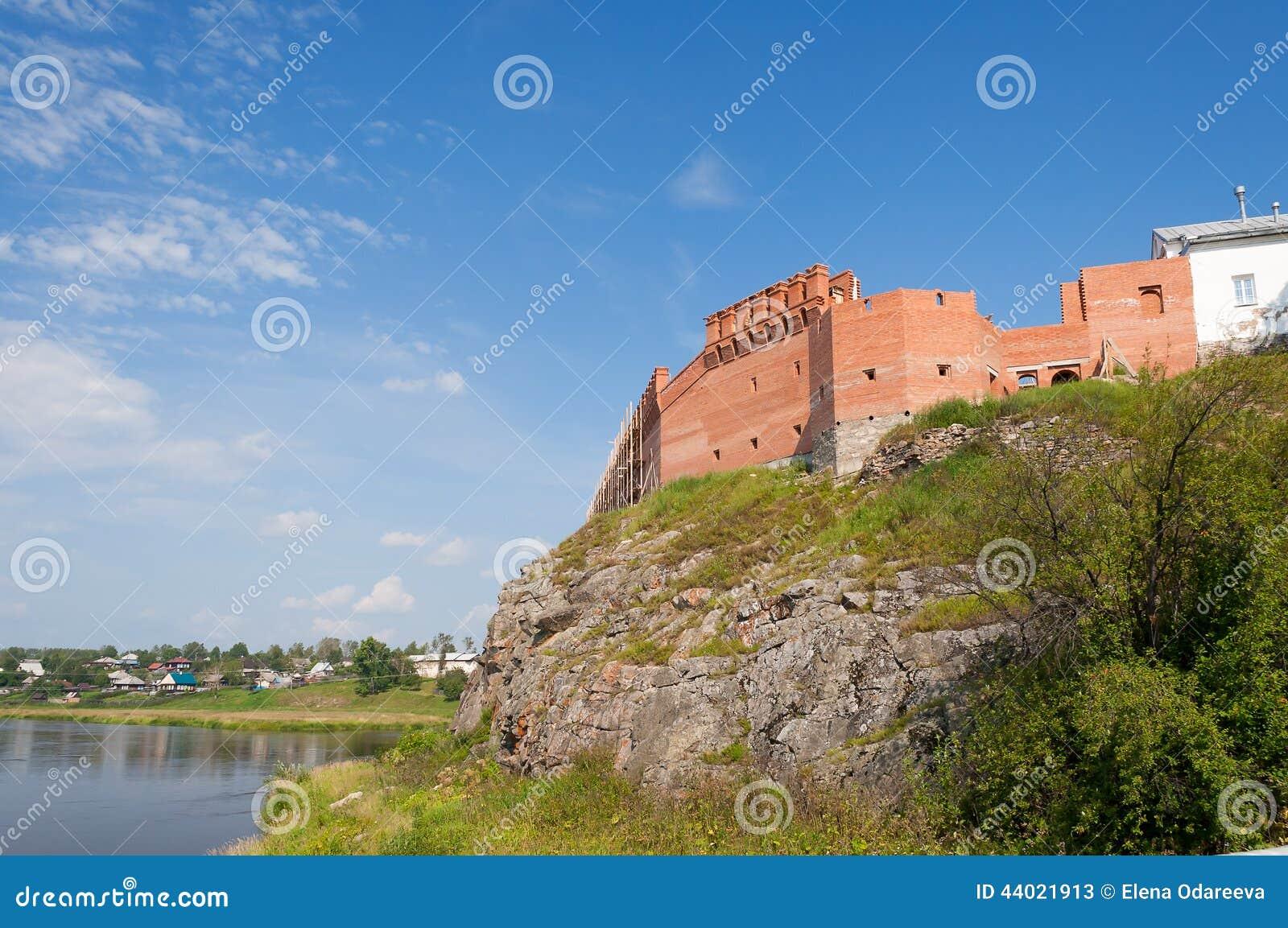 Kreml på bankerna av floden Tura