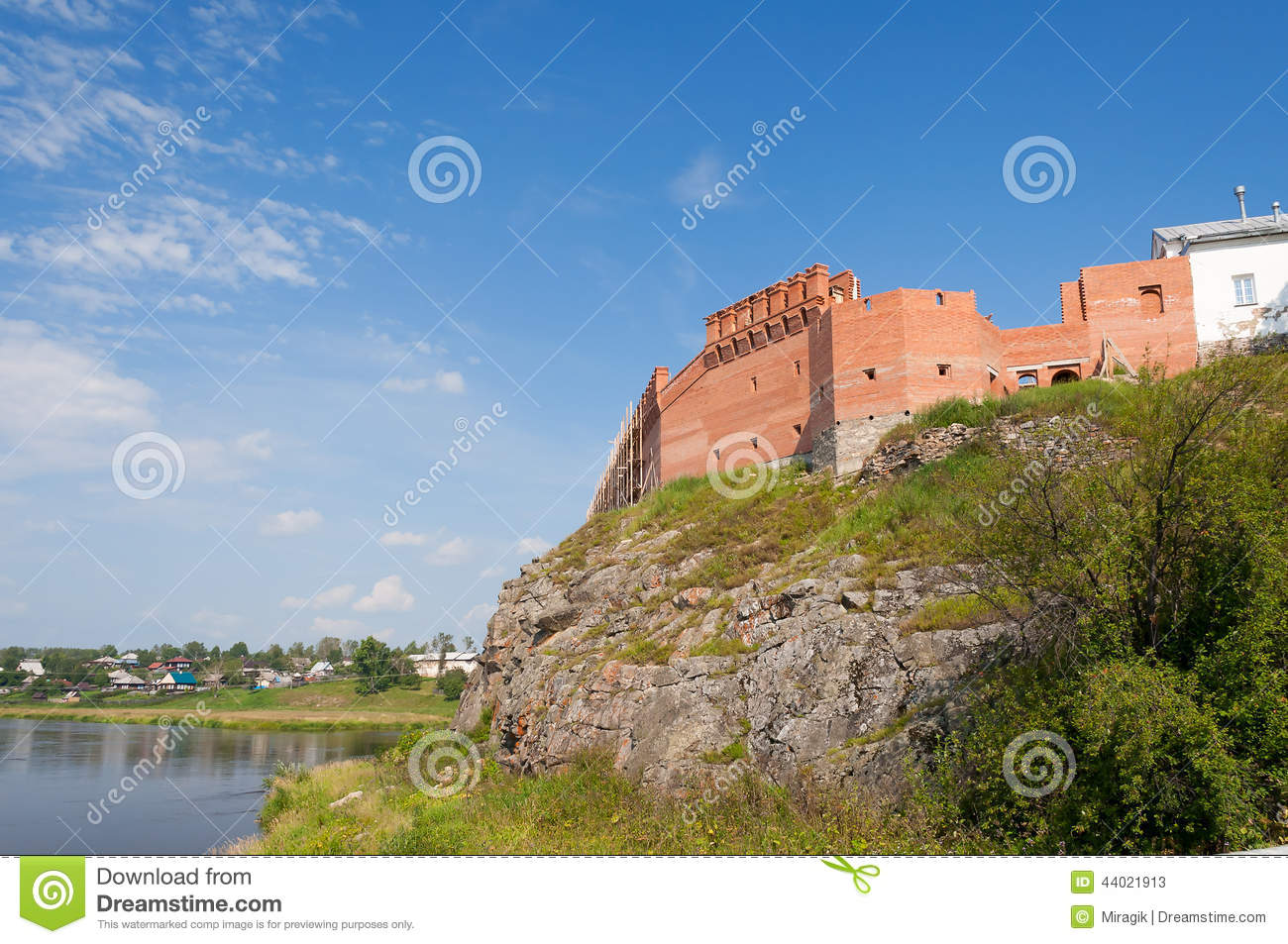 Kremlin on the banks of the River Tura