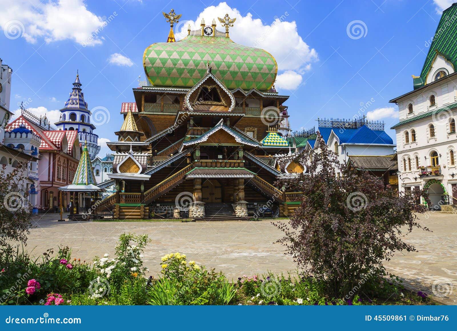 Kremlin de Izmailovo da construção, Moscou, Rússia