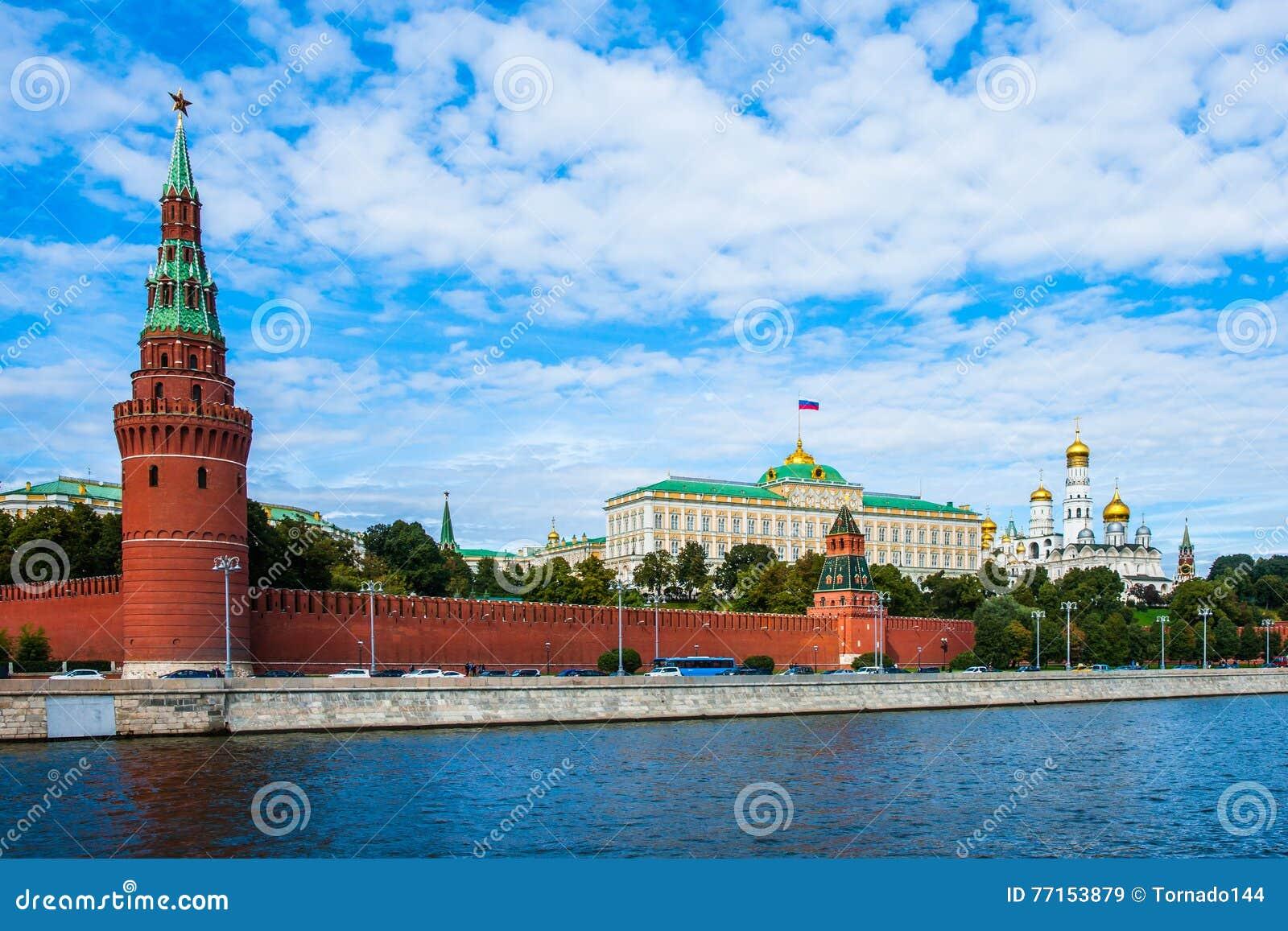 Kremlin de Moscou e o rio de Moscou