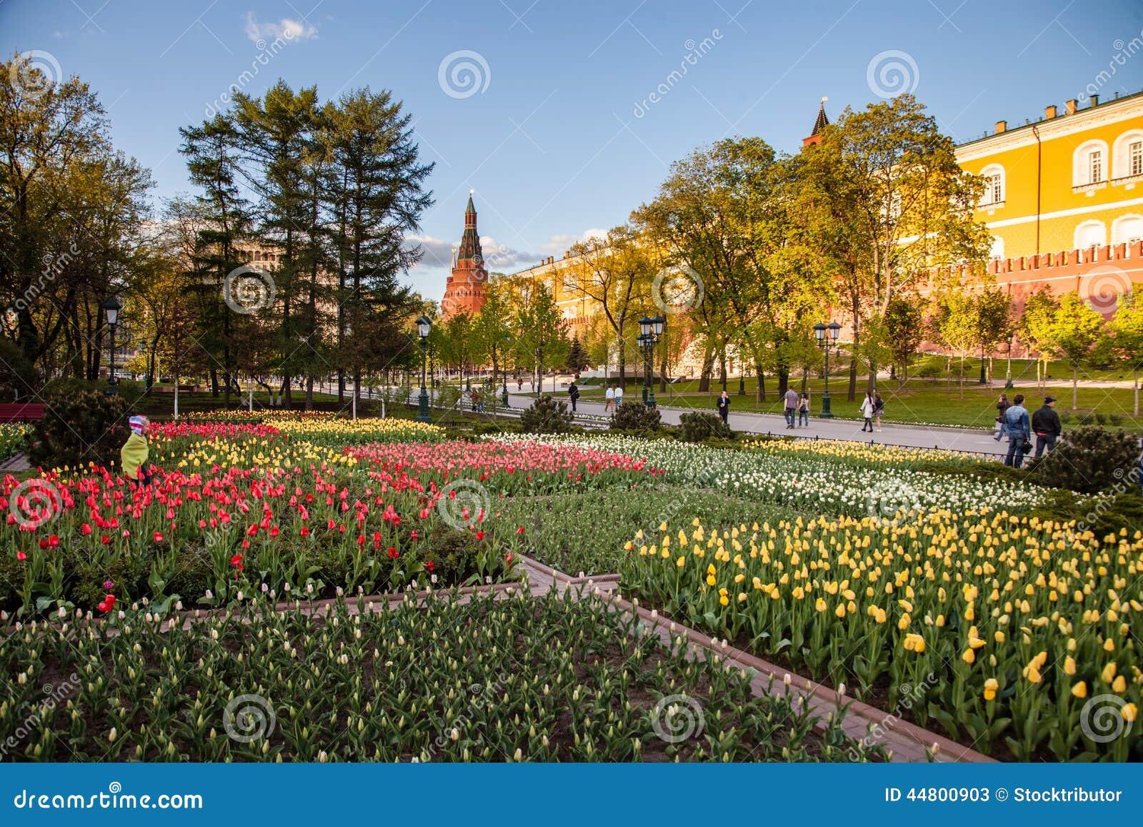 Kremlin garden with flowers in moscow editorial stock photo image kremlin garden with flowers in moscow izmirmasajfo