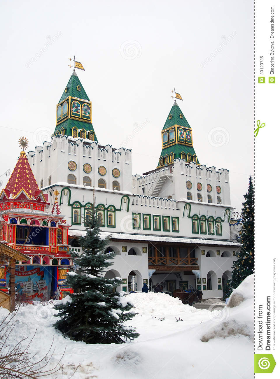 Kremlin in izmailovo moscow russia editorial photo for Famous landmarks in russia