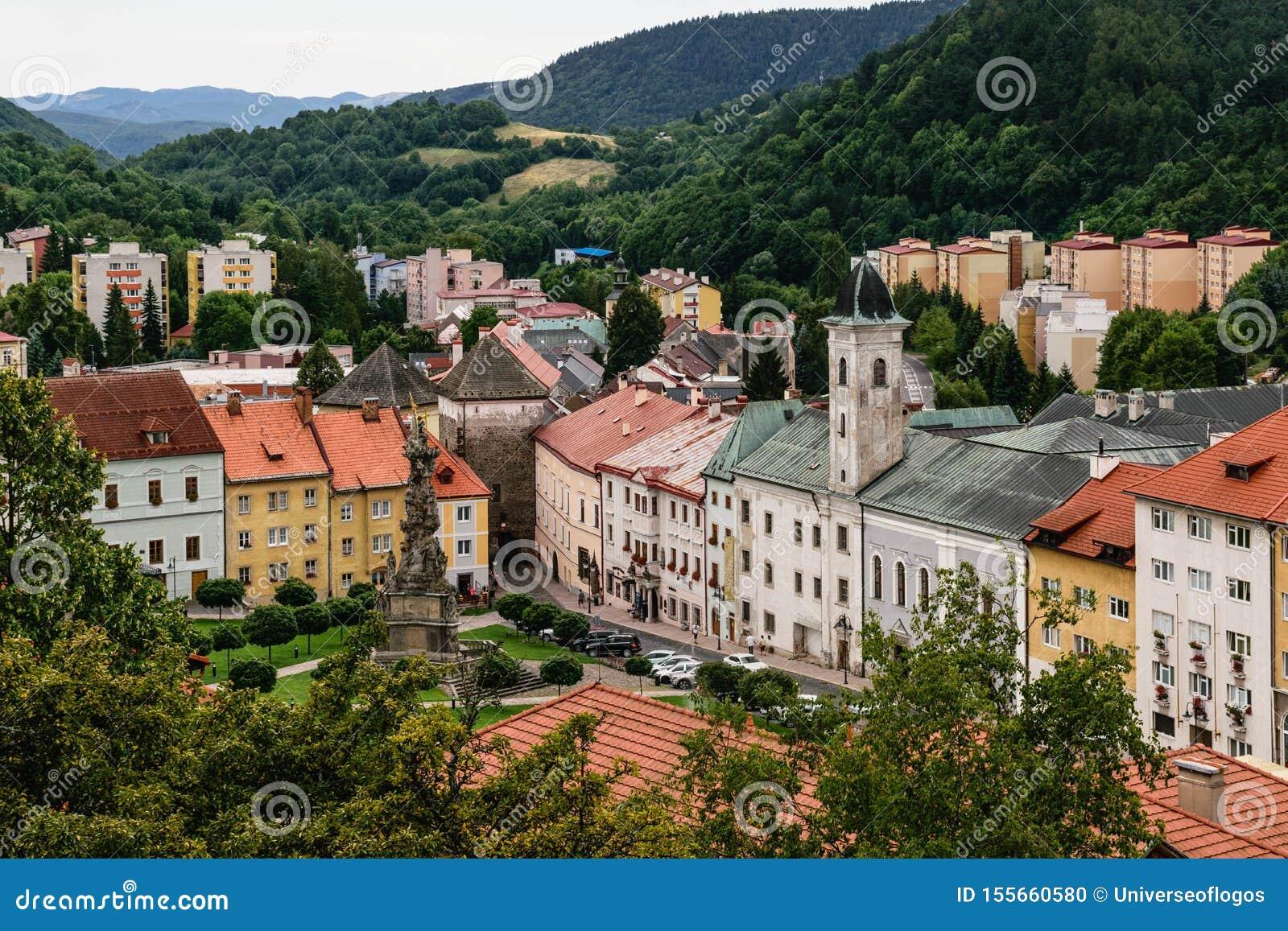 Kremnica city, Slovakia stock photo  Image of activities