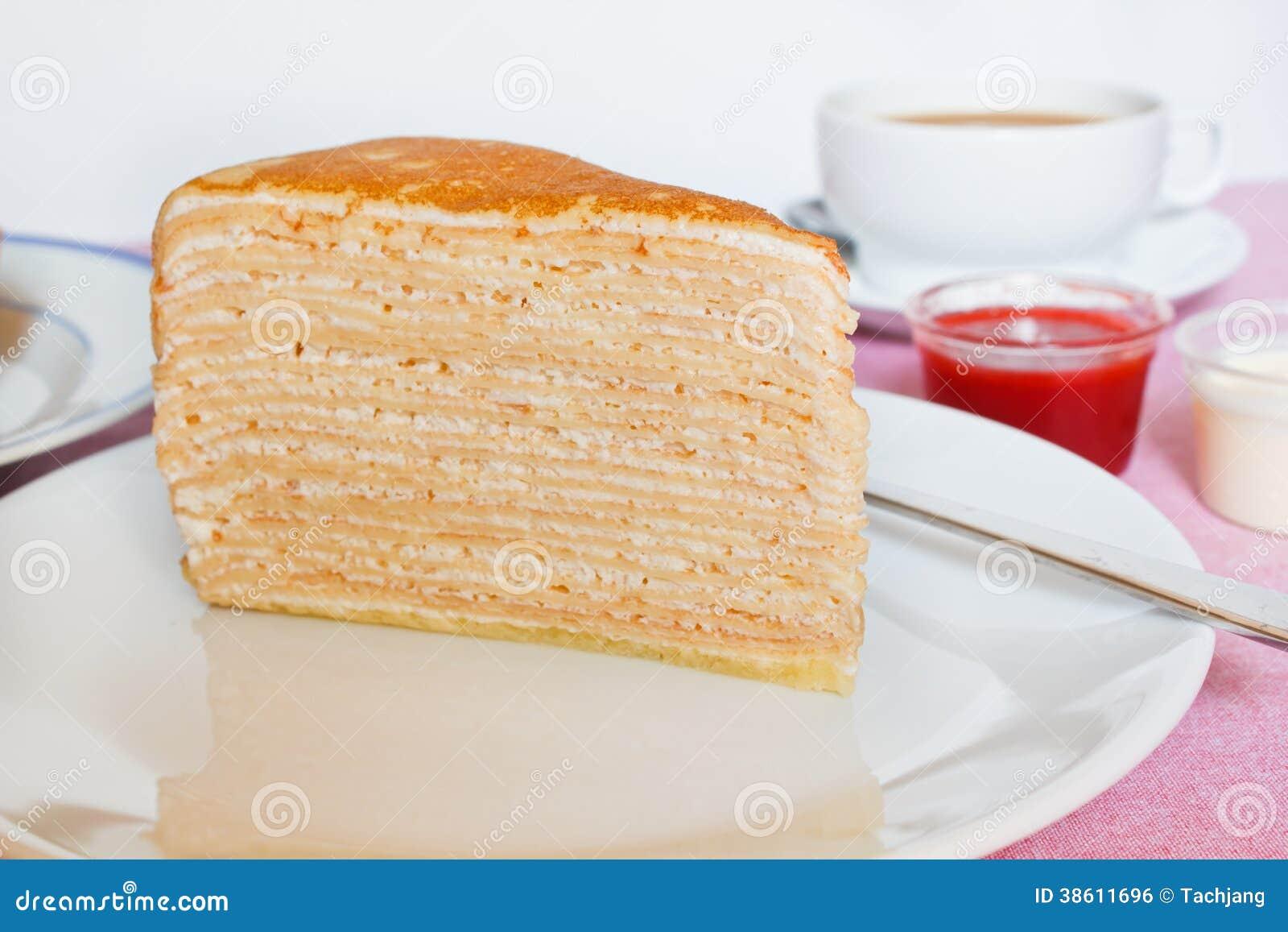 Krepp Kuchen Stockfoto Bild Von Fullung Sussigkeiten 38611696