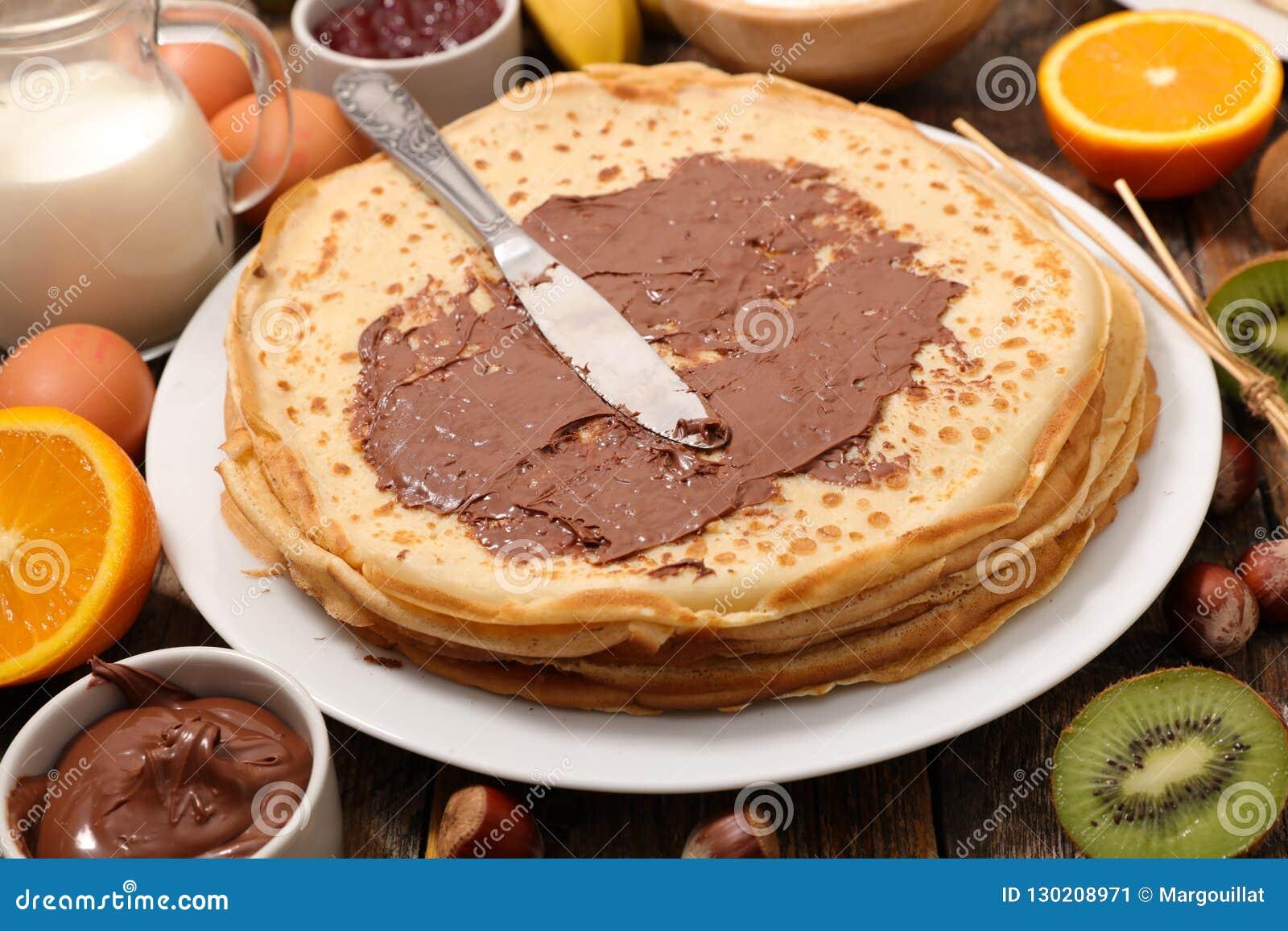 Krepp mit Schokolade