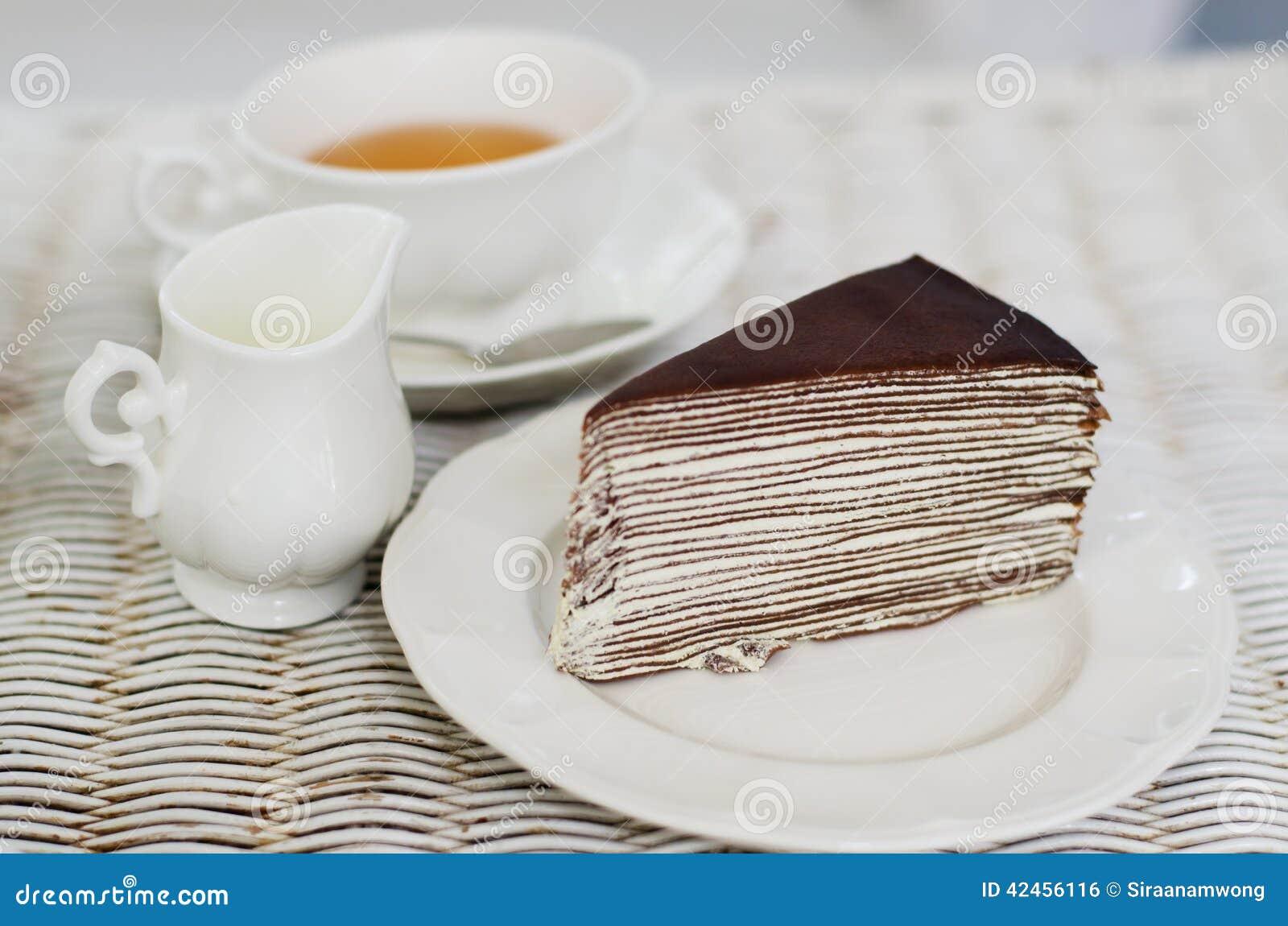 Kreppkuchen mit englischem Tee
