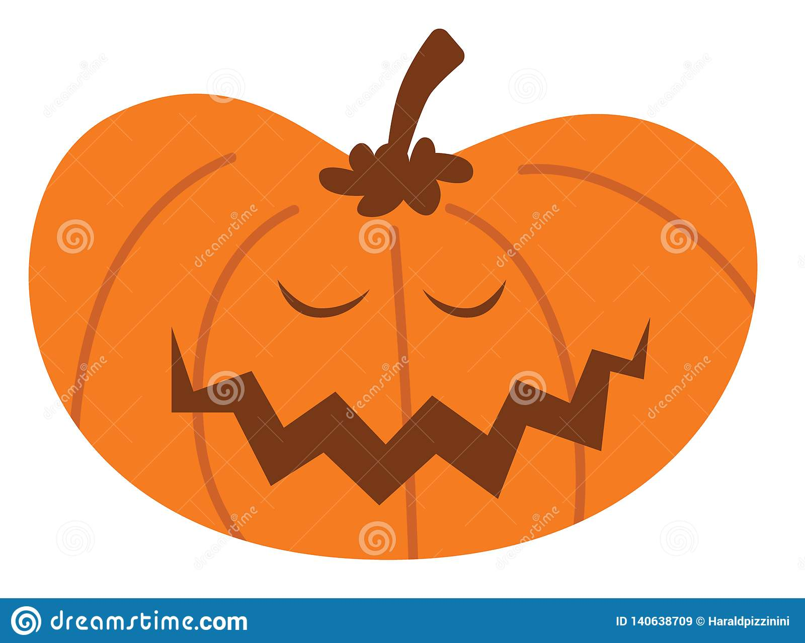 Kreskówki Halloween bania z szczęśliwym wyrażeniem
