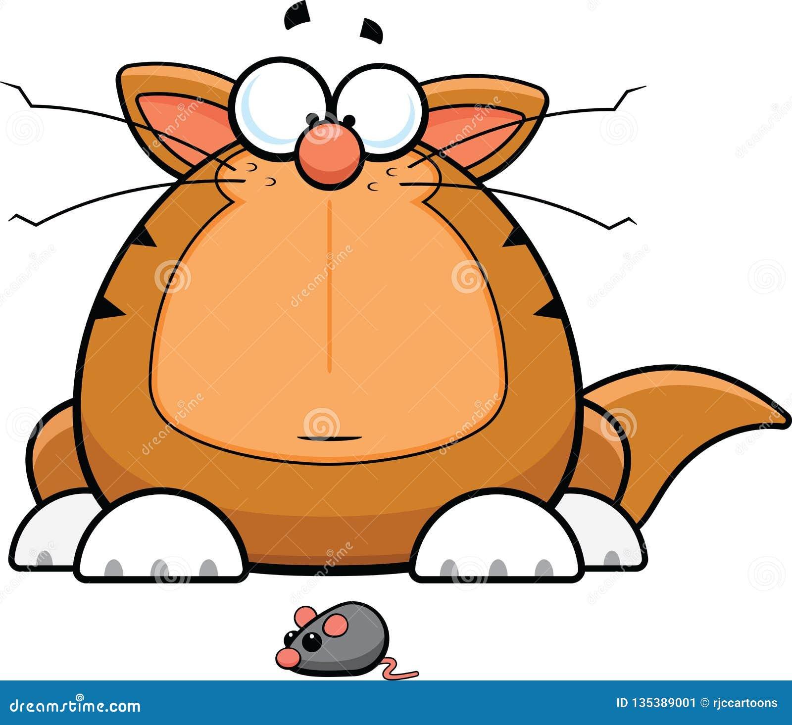 Kreskówka Śmieszny kot Z Zabawkarską myszą