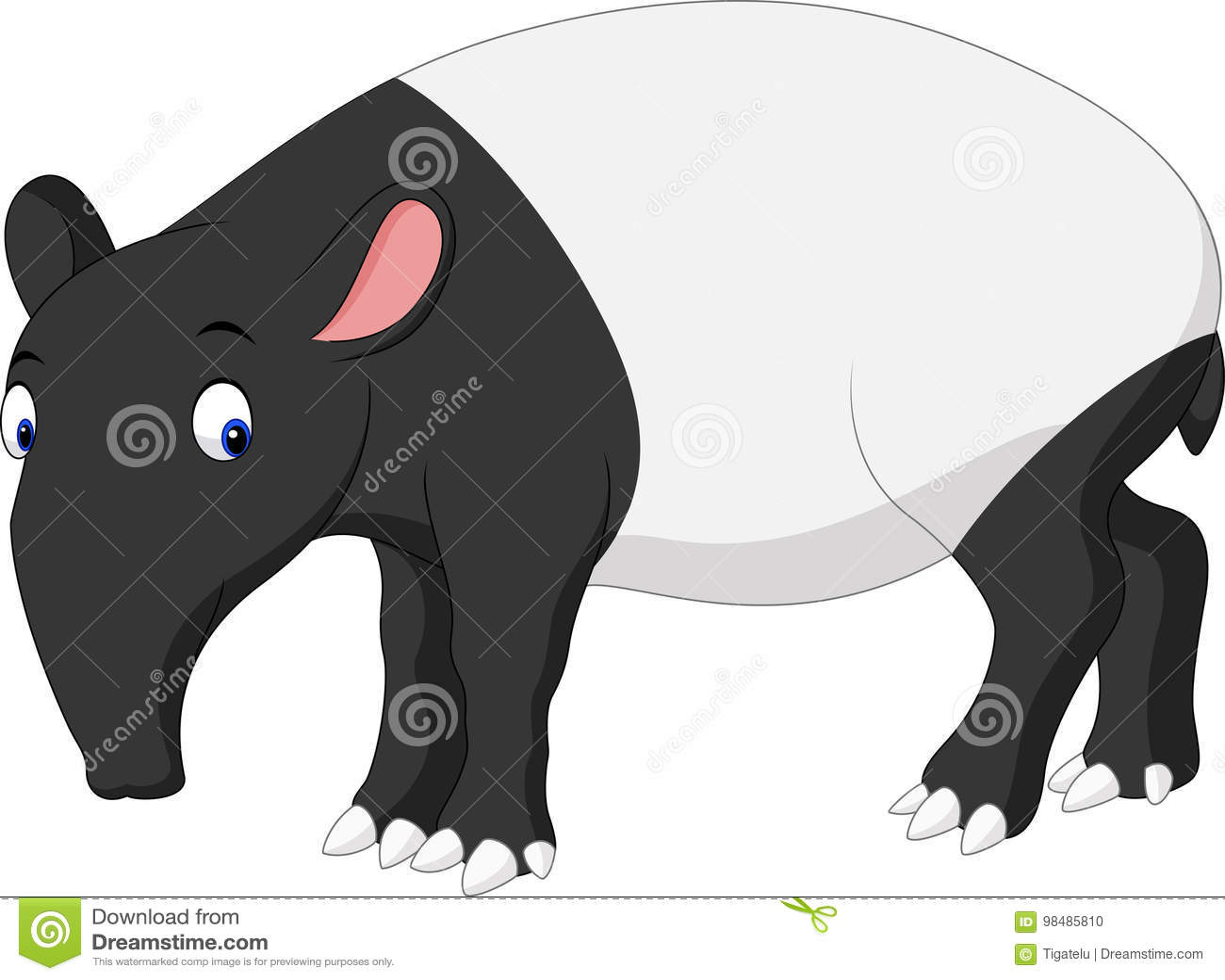 Kreskówka azjata tapir