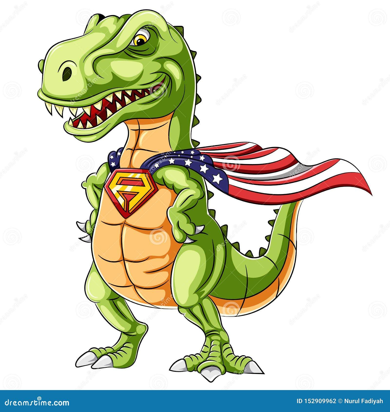 Kreskówka bohatera dinosaurów maskotka