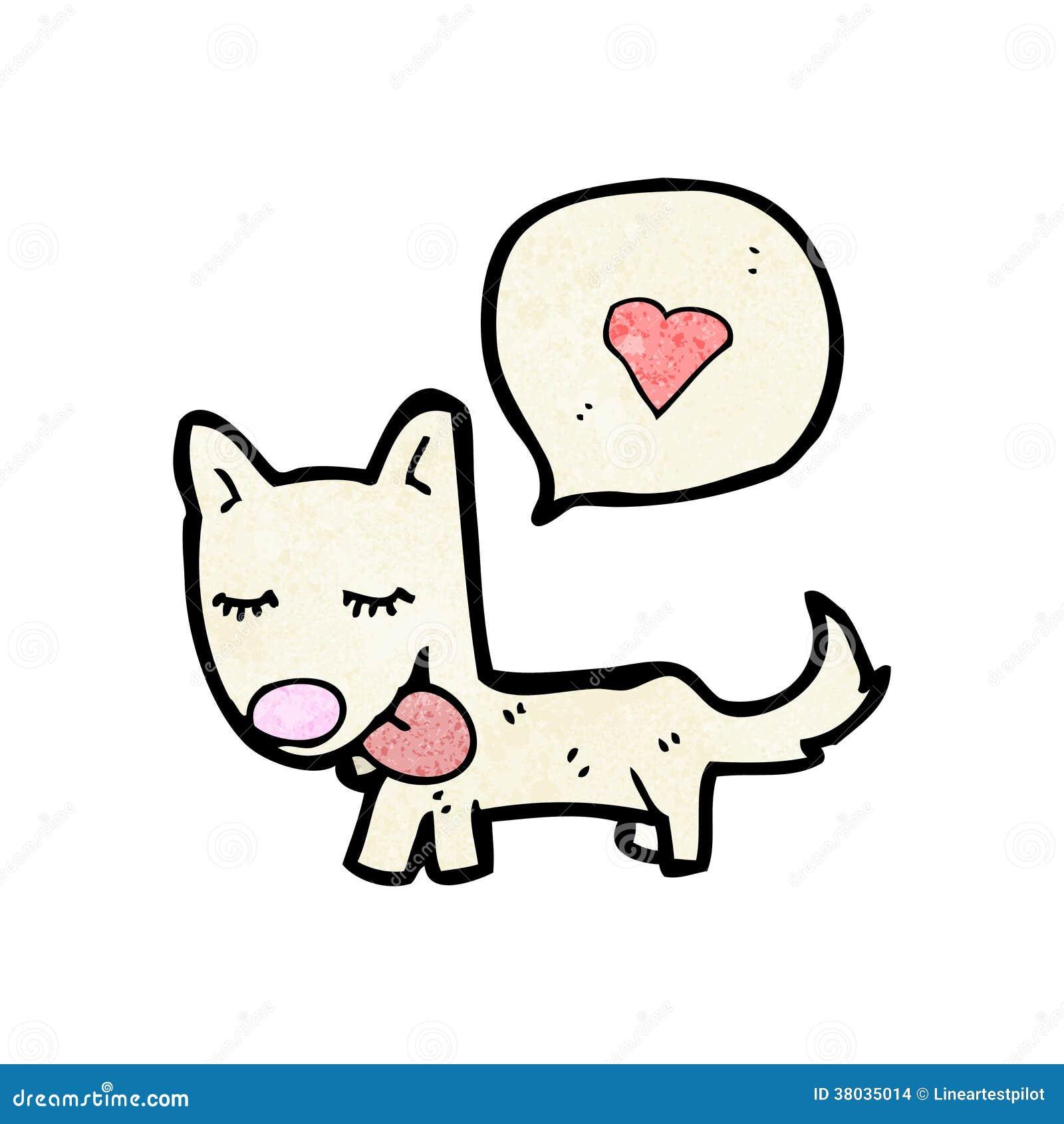 Kreskówka czule pies