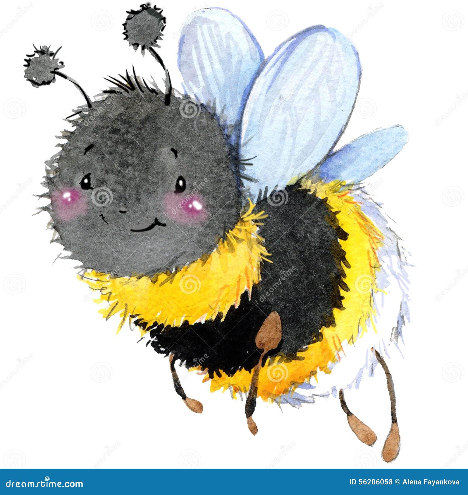 Kreskówka insekta bumblebee akwareli ilustracja