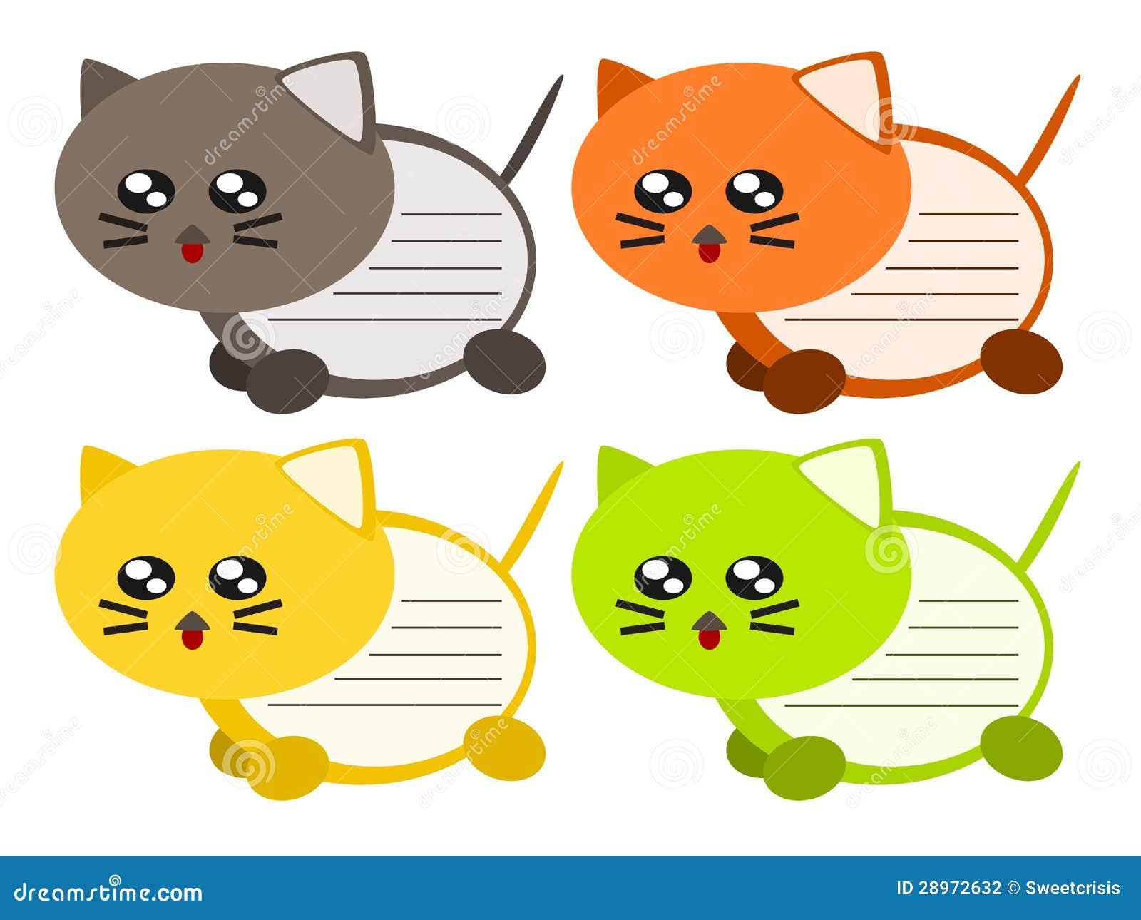 Kreskówka kota notatki ilustracja