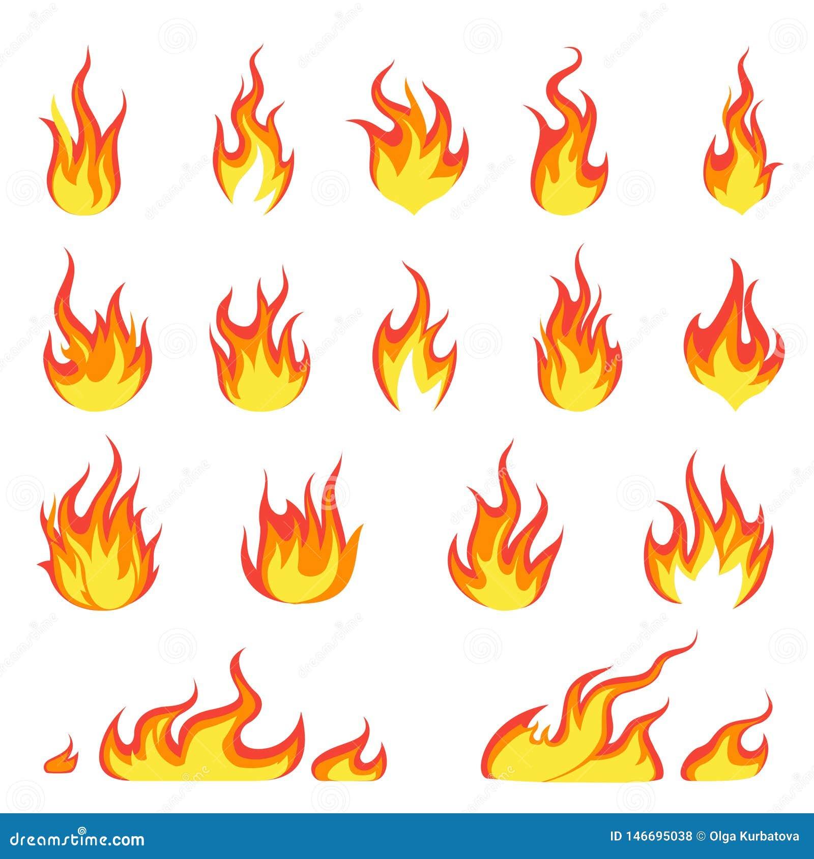 Kreskówka ogienia płomień Podpala wizerunek, gorący płomienny zapłon, flammable blasku upału wybuchu płomieni energetyczny wektor