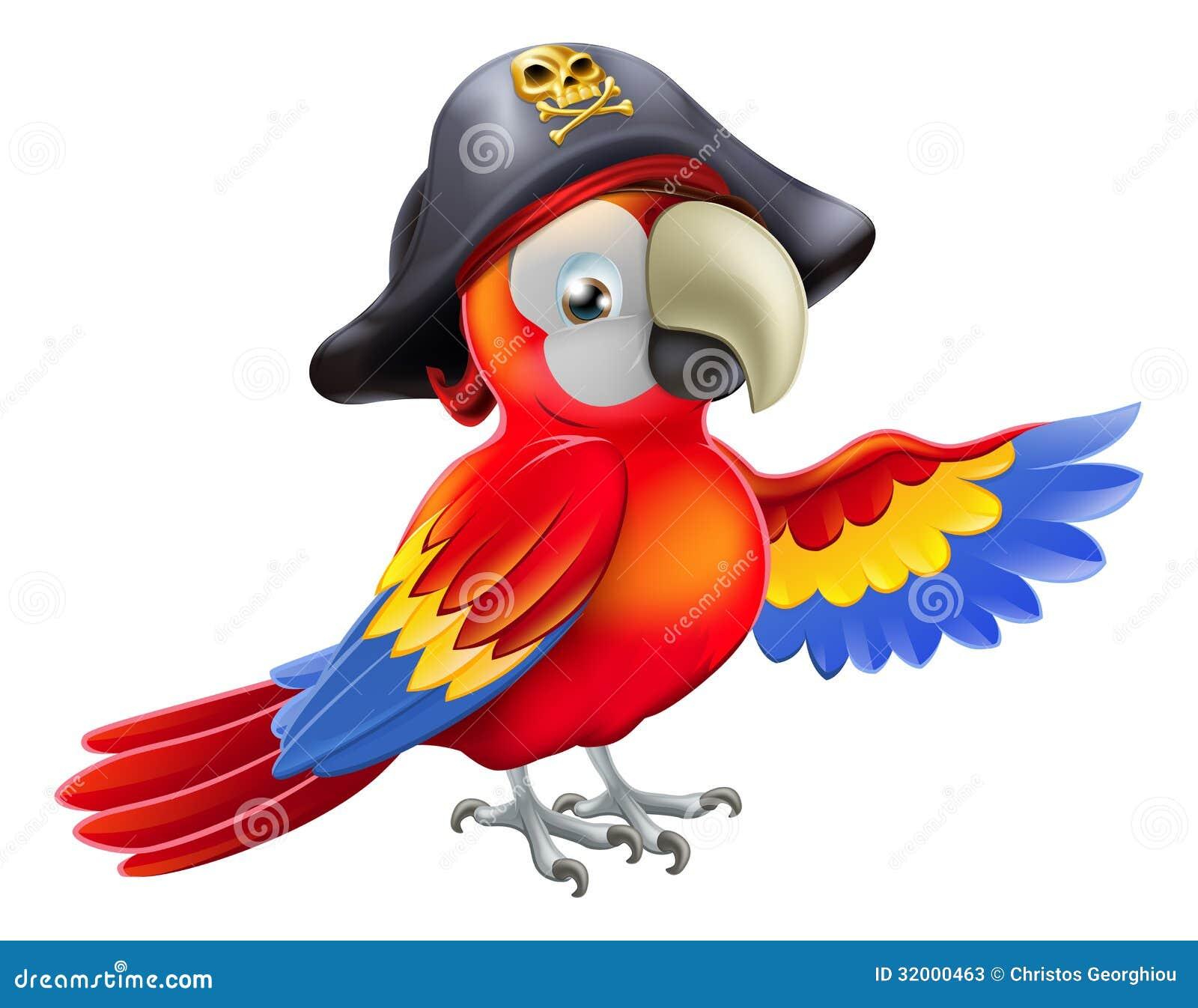 Kreskówka pirata papuga