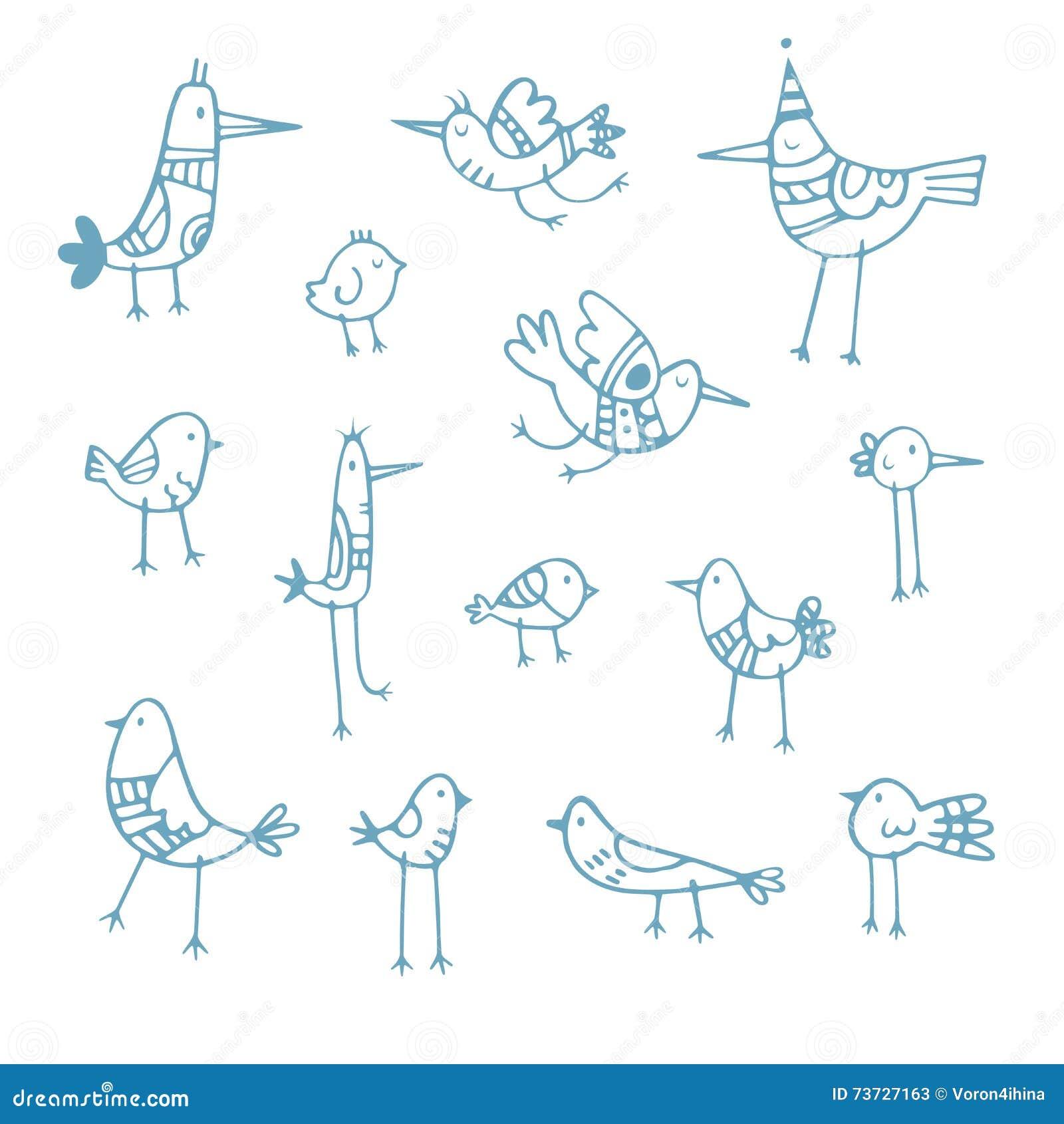 Kreskówka ptaki ustawiający
