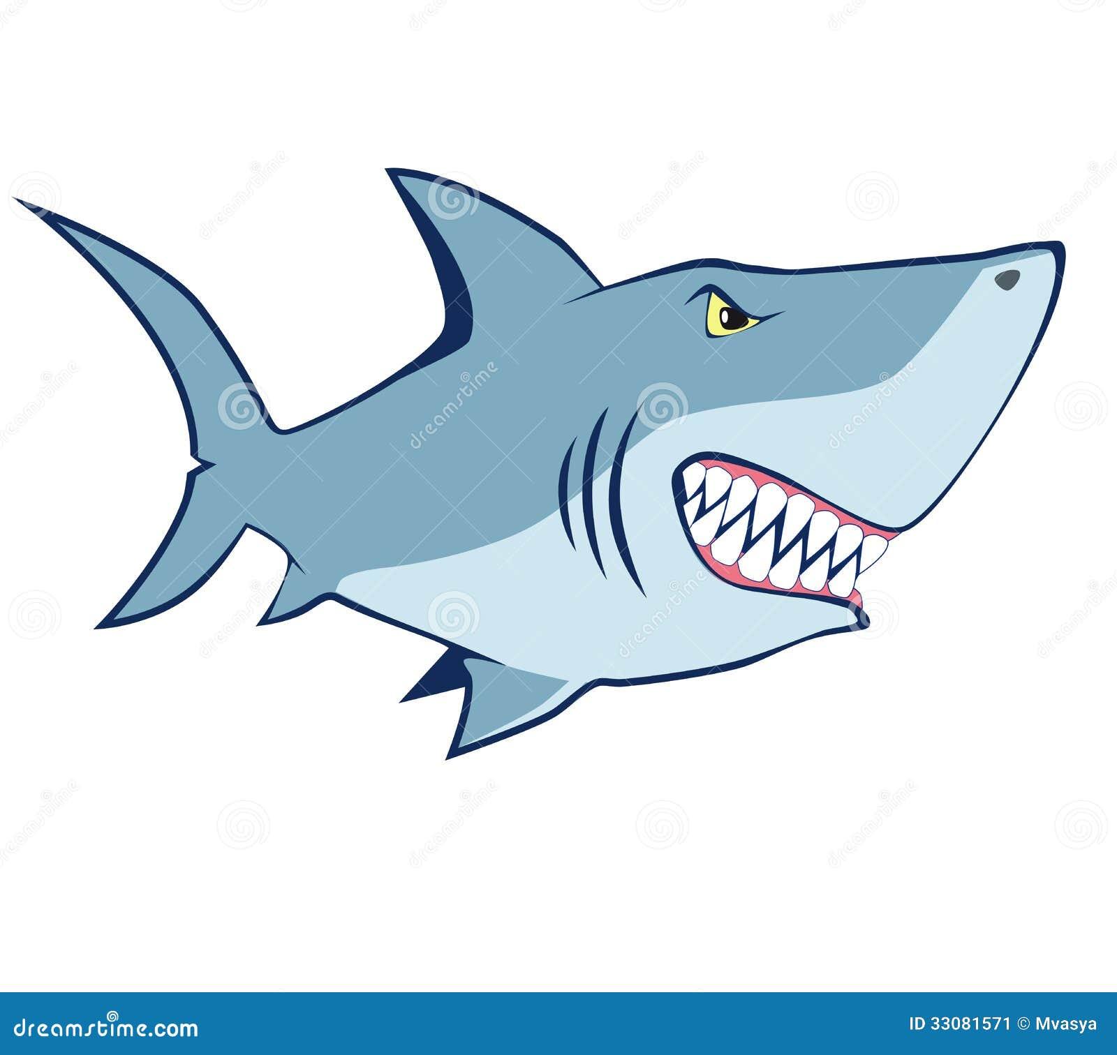Kreskówka rekin. Wektorowa ilustracja