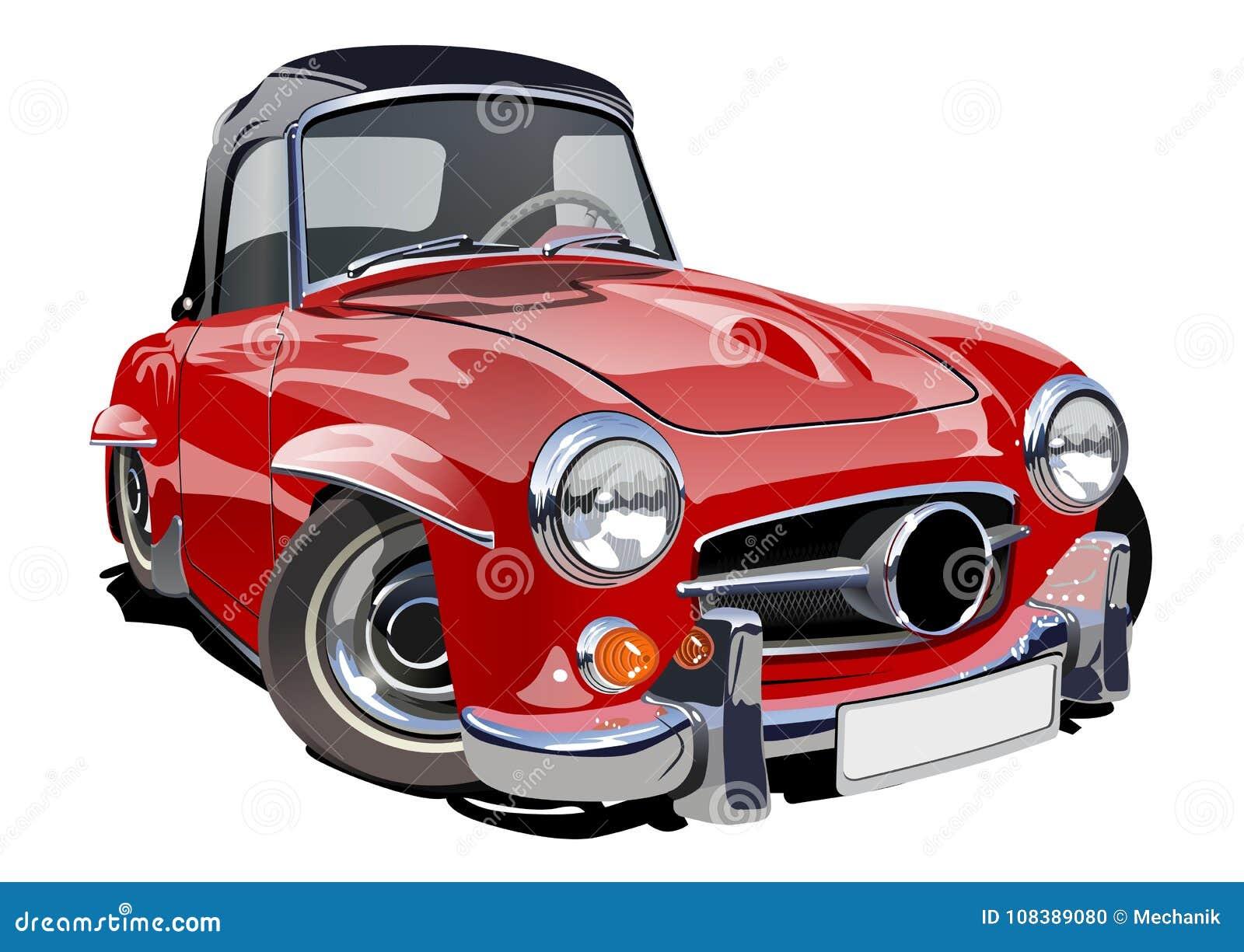 Kreskówka Retro samochód