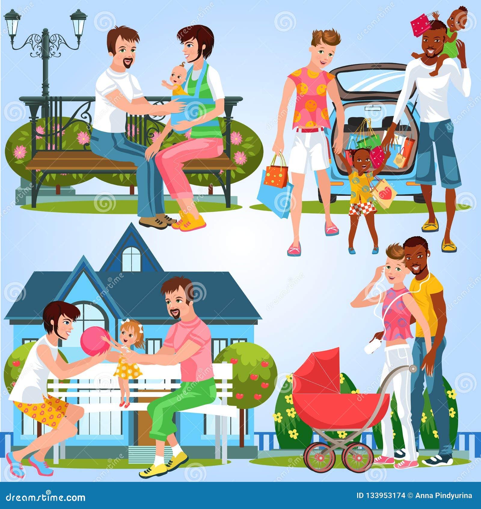 Kreskówka ustawiająca homoseksualne rodziny z małymi dziećmi