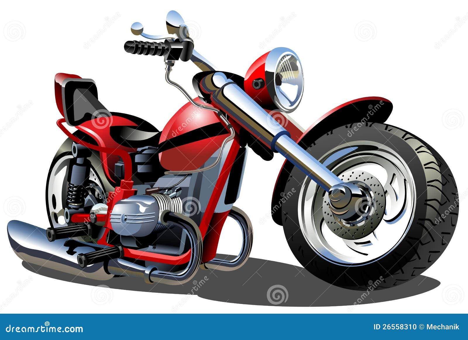 Kreskówka wektorowy Motocykl