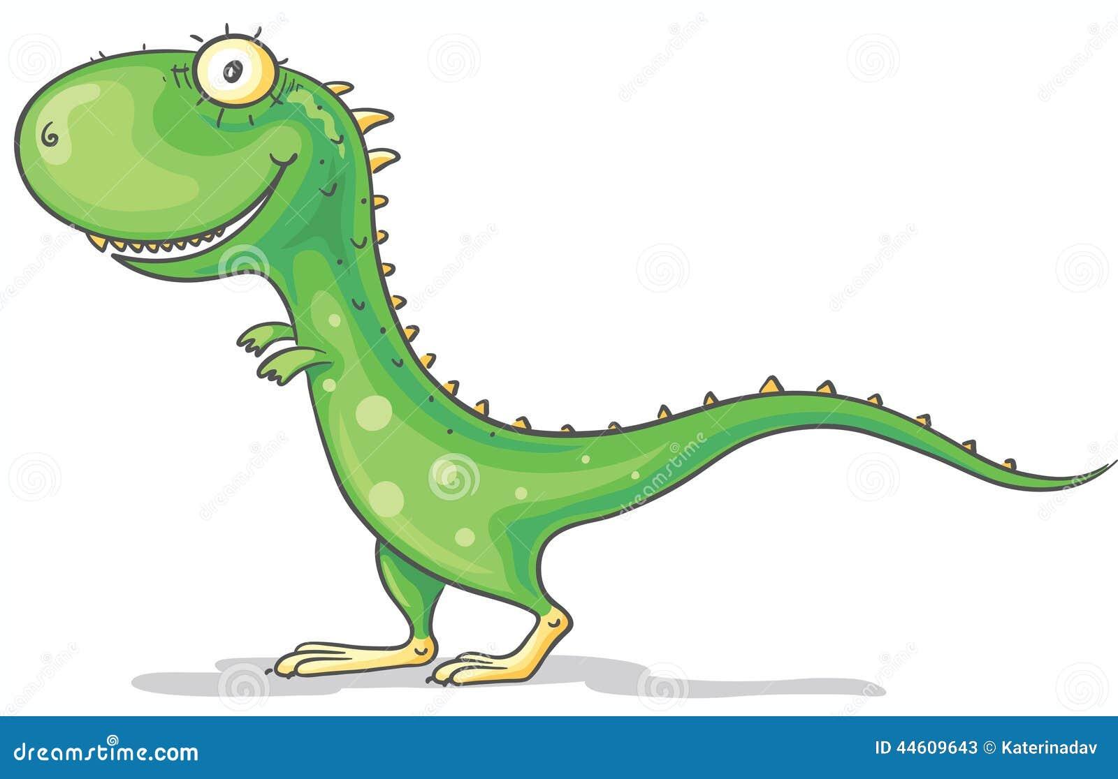 Kreskówka zielony dinosaur