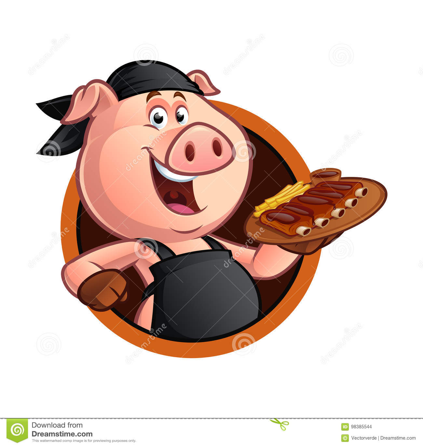 Kreskówki świni szef kuchni