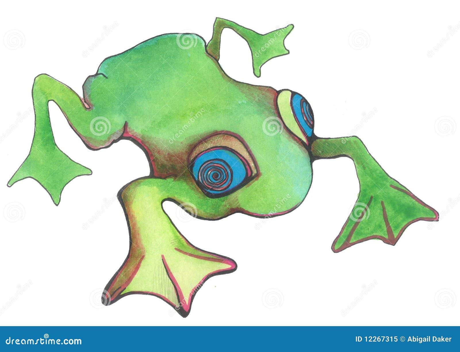 Kreskówki żaby zieleń